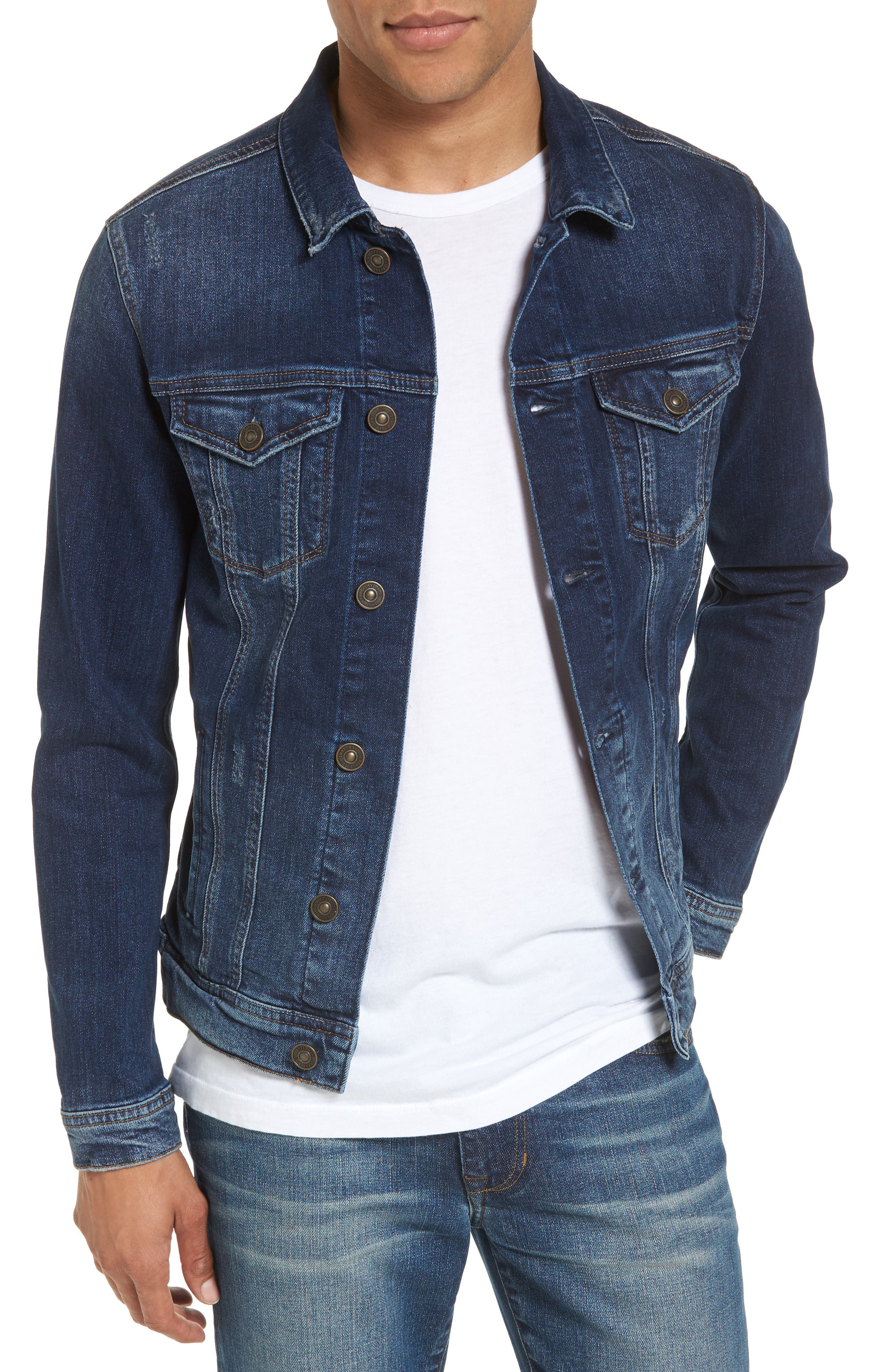 Frank Denim Jacket,                         Main,                         color, BLUE