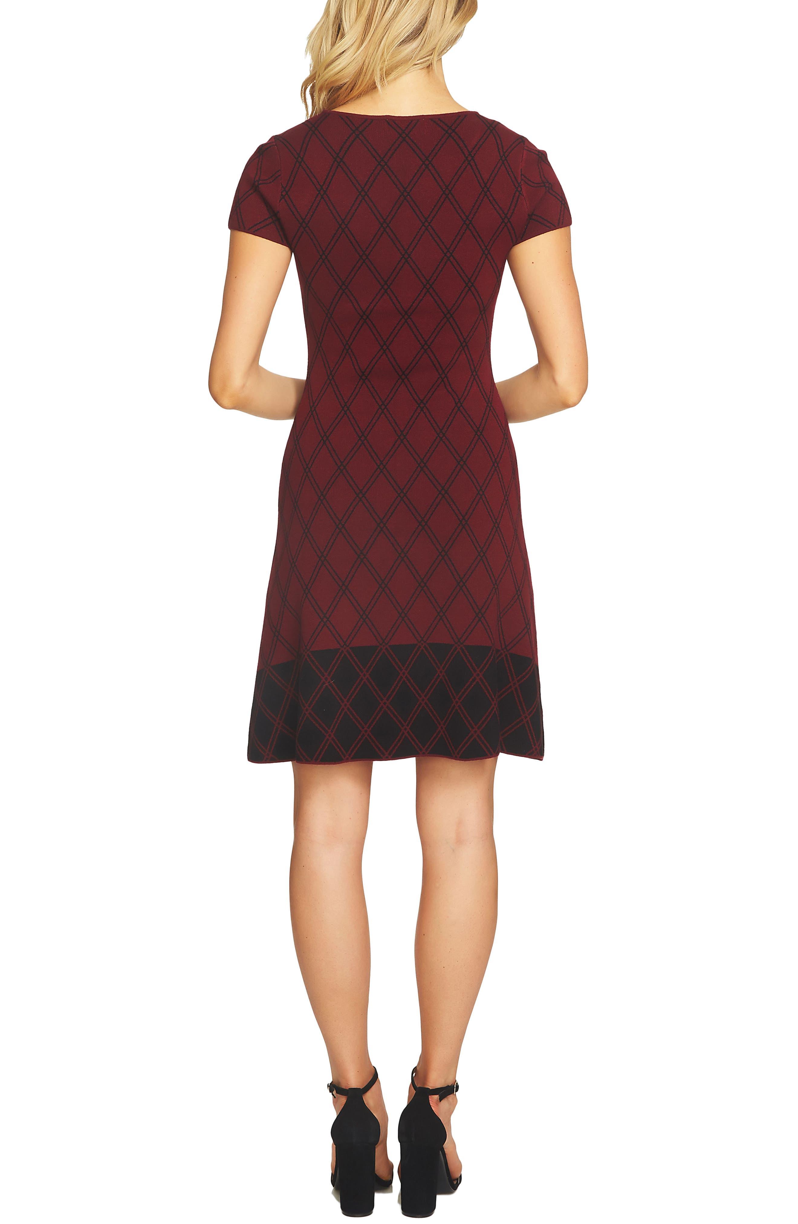 Plaid Sweater Dress,                             Alternate thumbnail 2, color,                             619