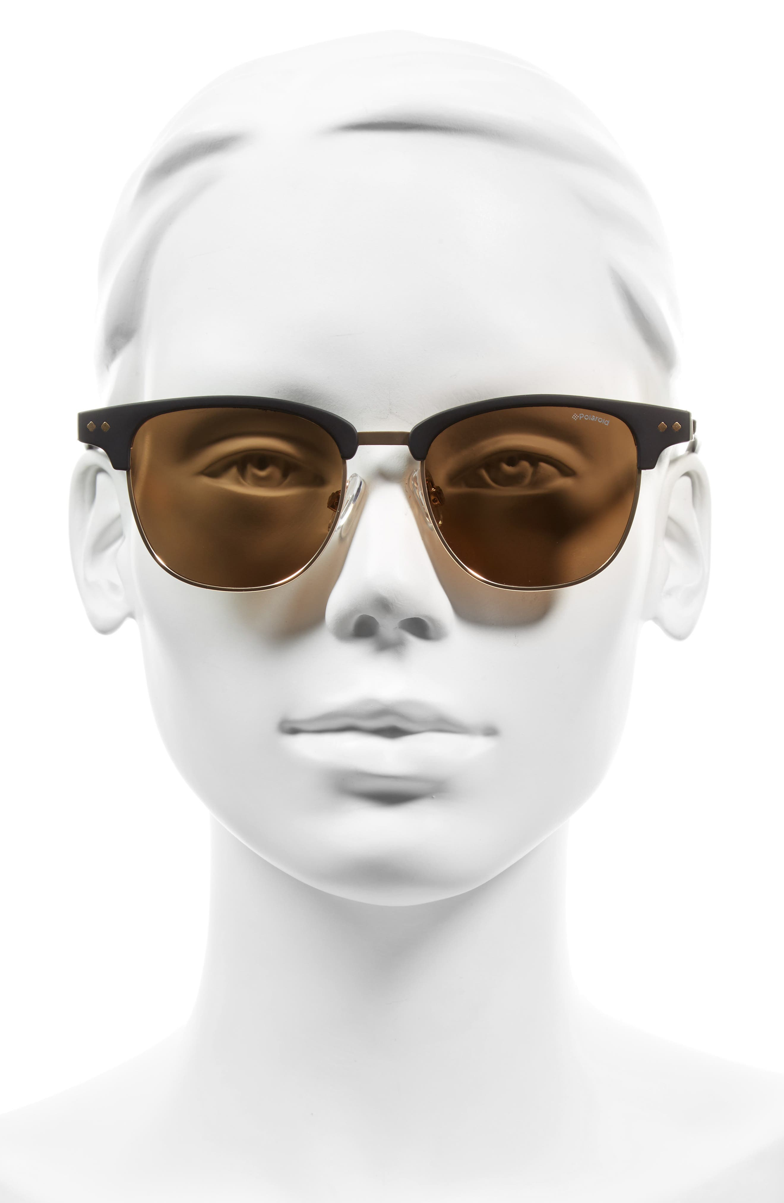 51mm Polarized Cat Eye Sunglasses,                             Alternate thumbnail 2, color,                             001