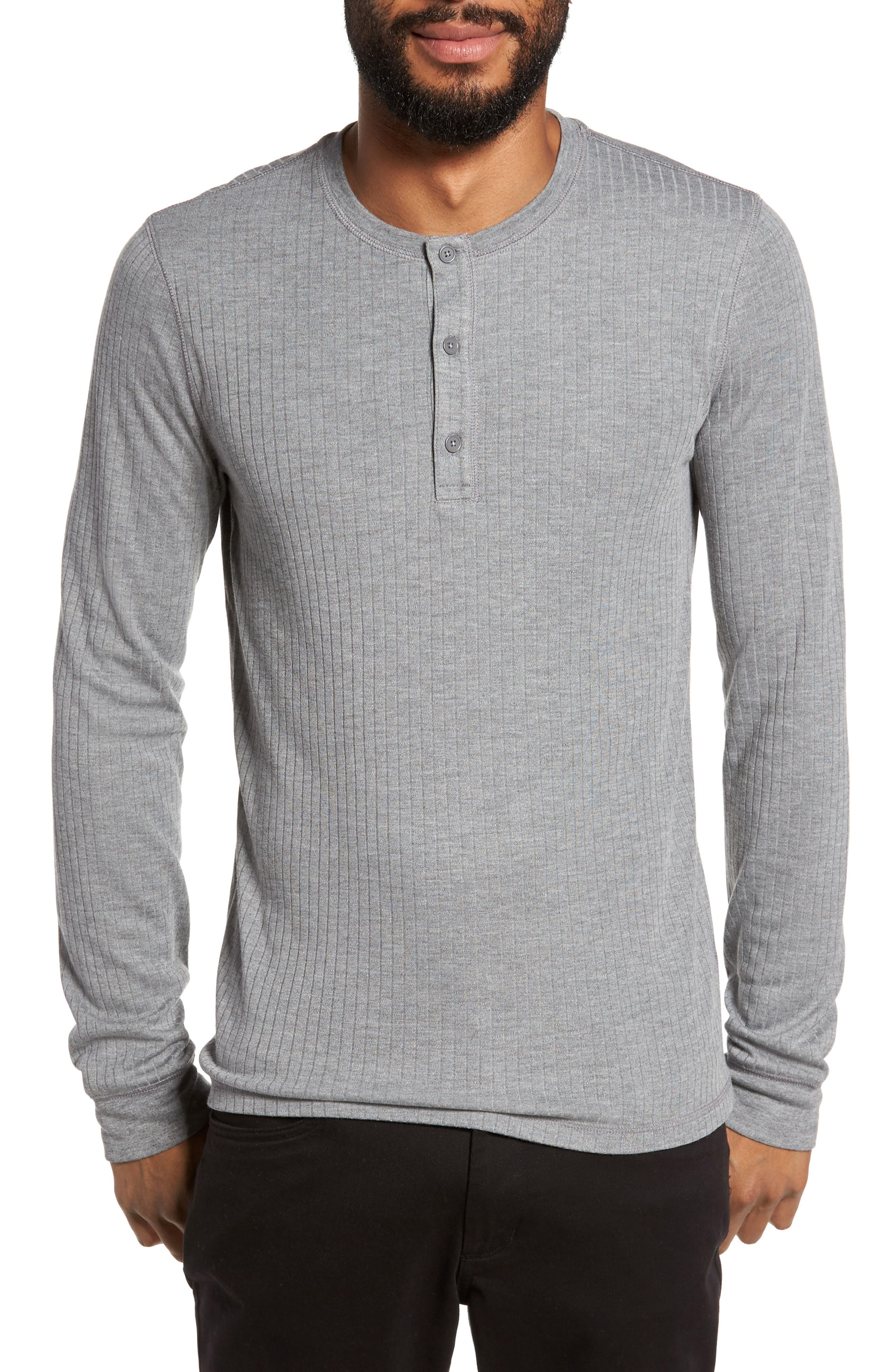 Ribbed Henley,                         Main,                         color, 095
