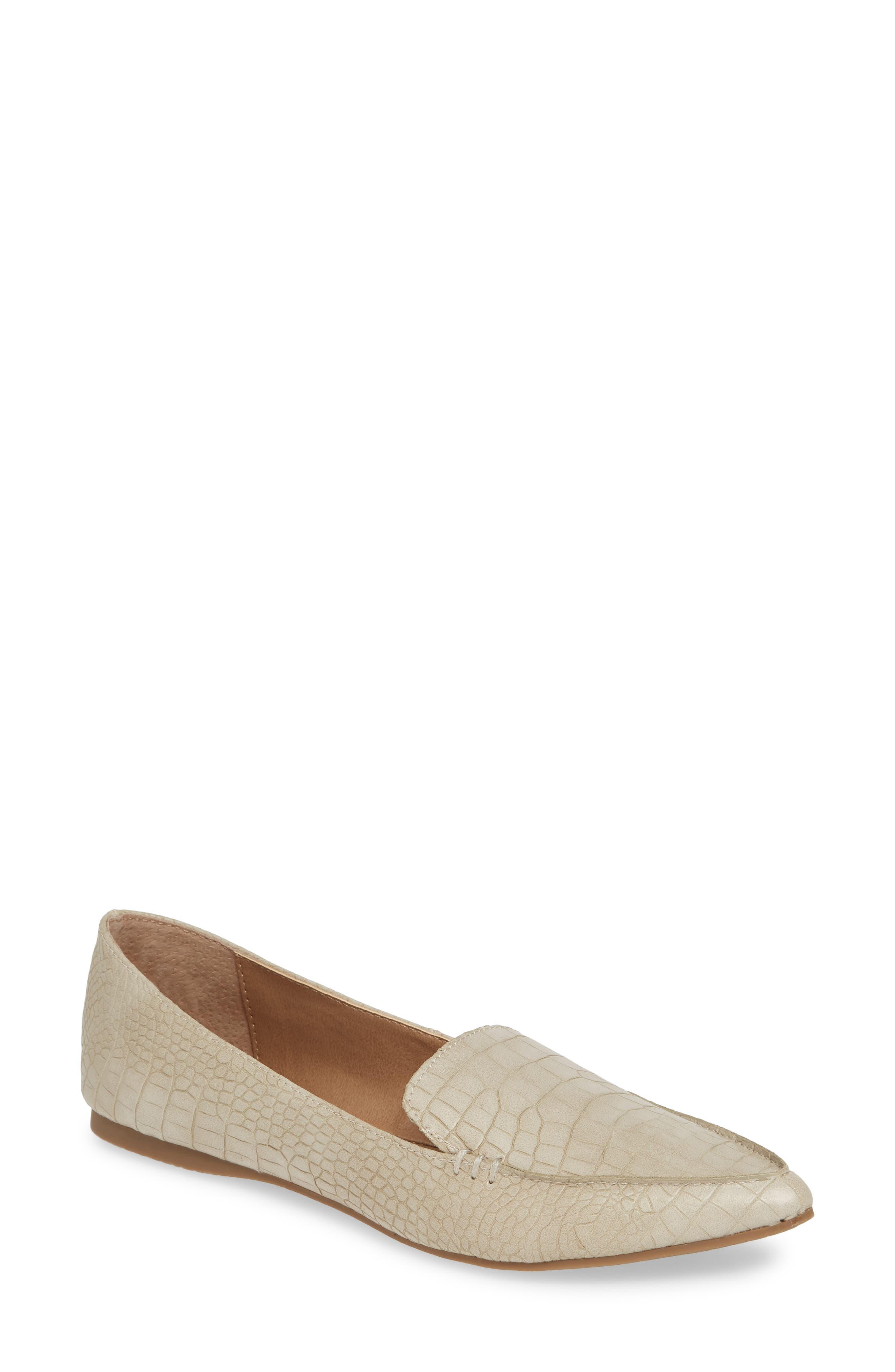 STEVE MADDEN,                             Feather Loafer Flat,                             Main thumbnail 1, color,                             TAUPE PRINT