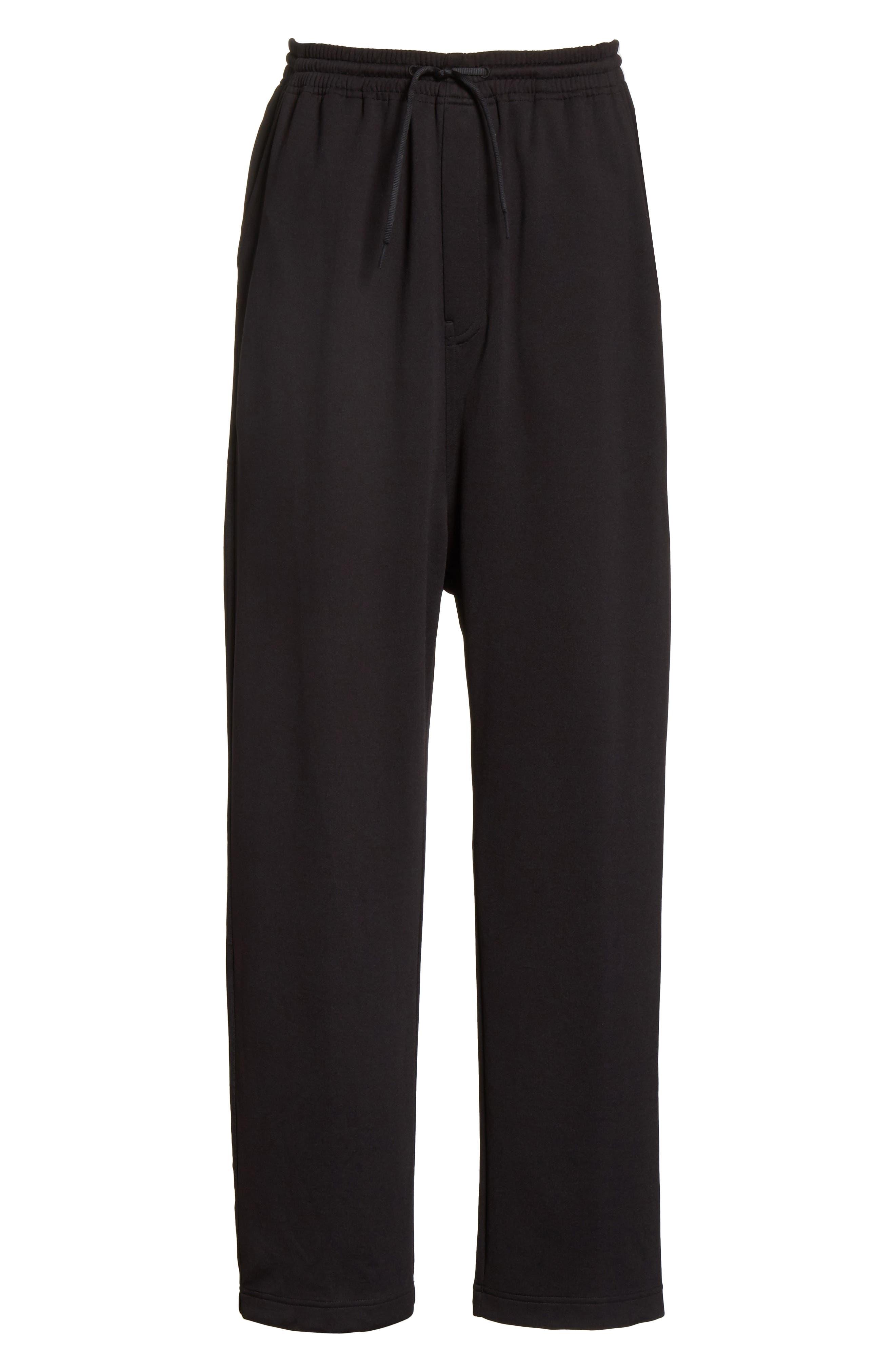 x adidas Wide Leg Track Pants,                             Alternate thumbnail 6, color,                             001