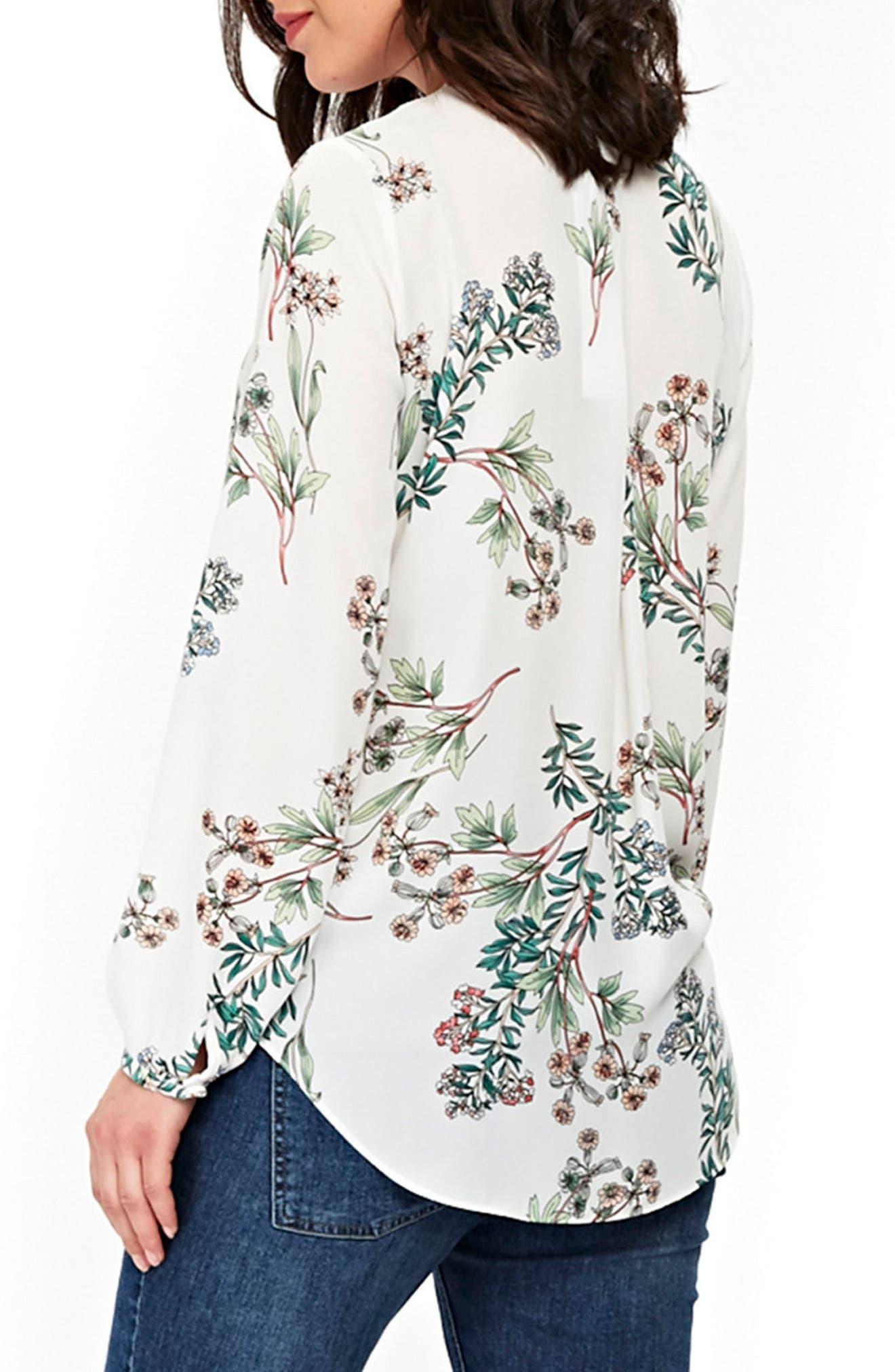 Floral Print Wrap Blouse,                             Alternate thumbnail 2, color,                             900