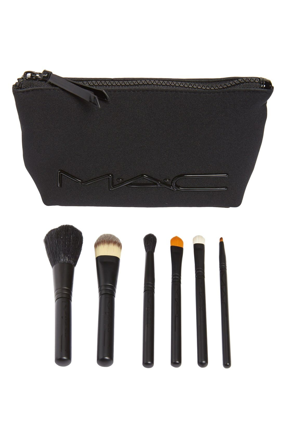 M·A·C 'Look in a Box - Basic' Travel Brush Kit,                             Main thumbnail 1, color,                             000