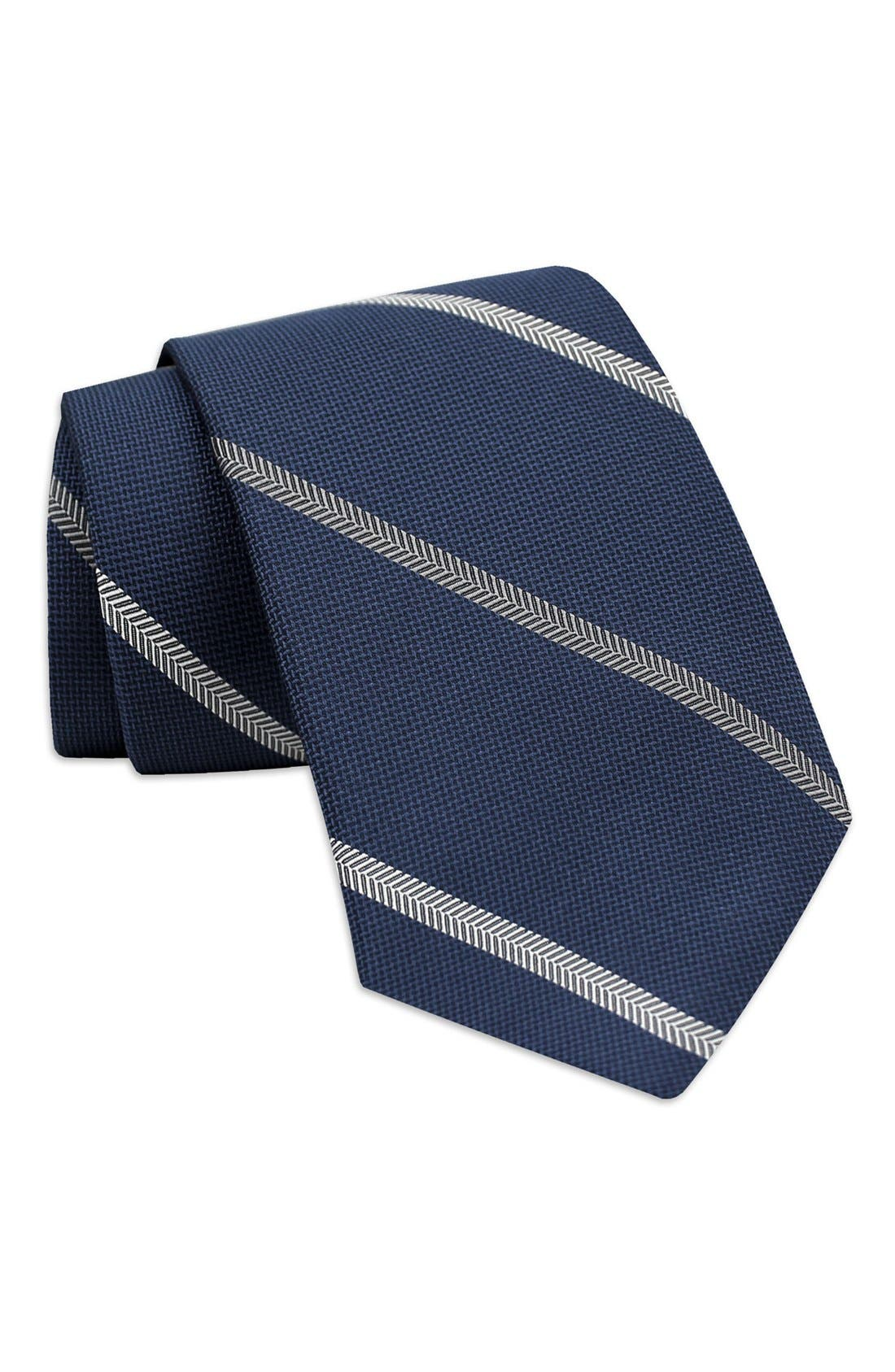 Stripe Woven Silk Tie,                         Main,                         color, 400