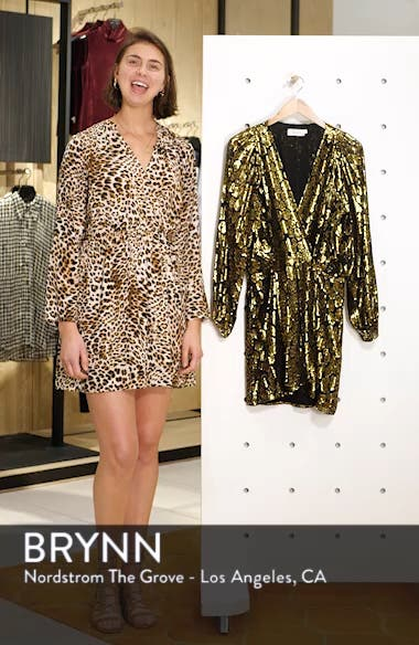 Elsa Marina Leopard Fil Coupé Dress, sales video thumbnail