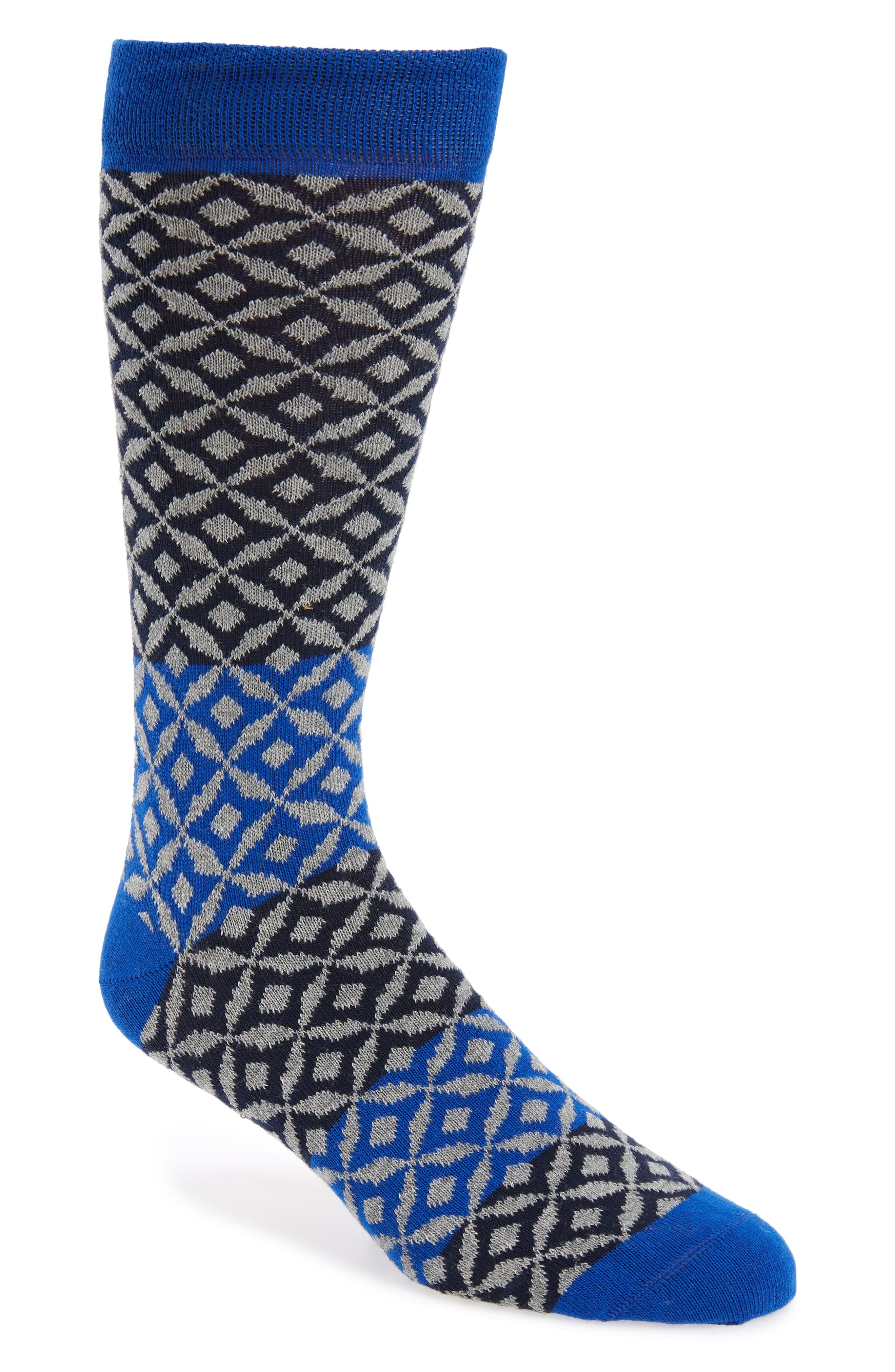 Geometric Socks,                             Main thumbnail 2, color,