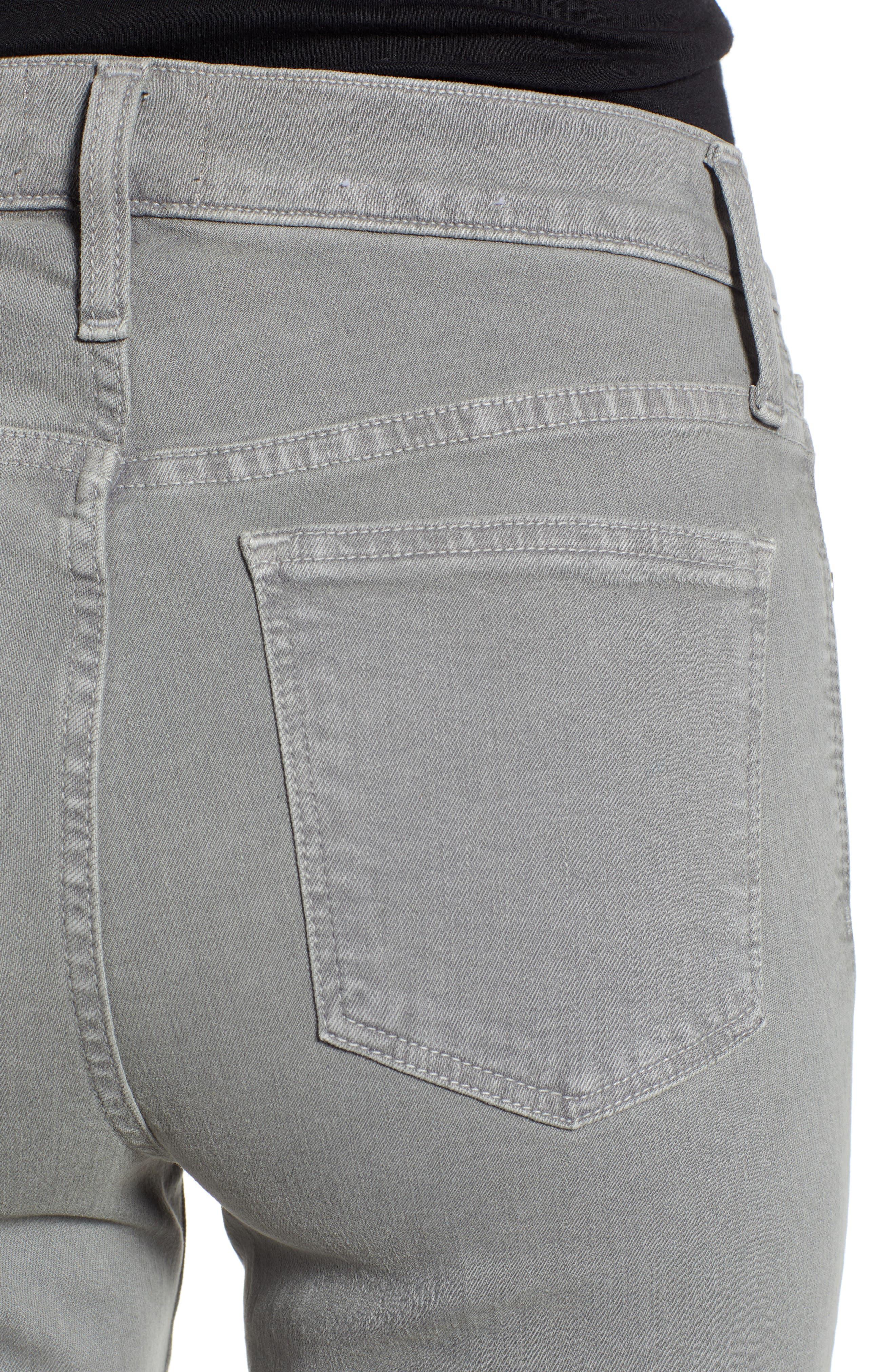 Sierra High Waist Ankle Skinny Pants,                             Alternate thumbnail 4, color,                             GREY