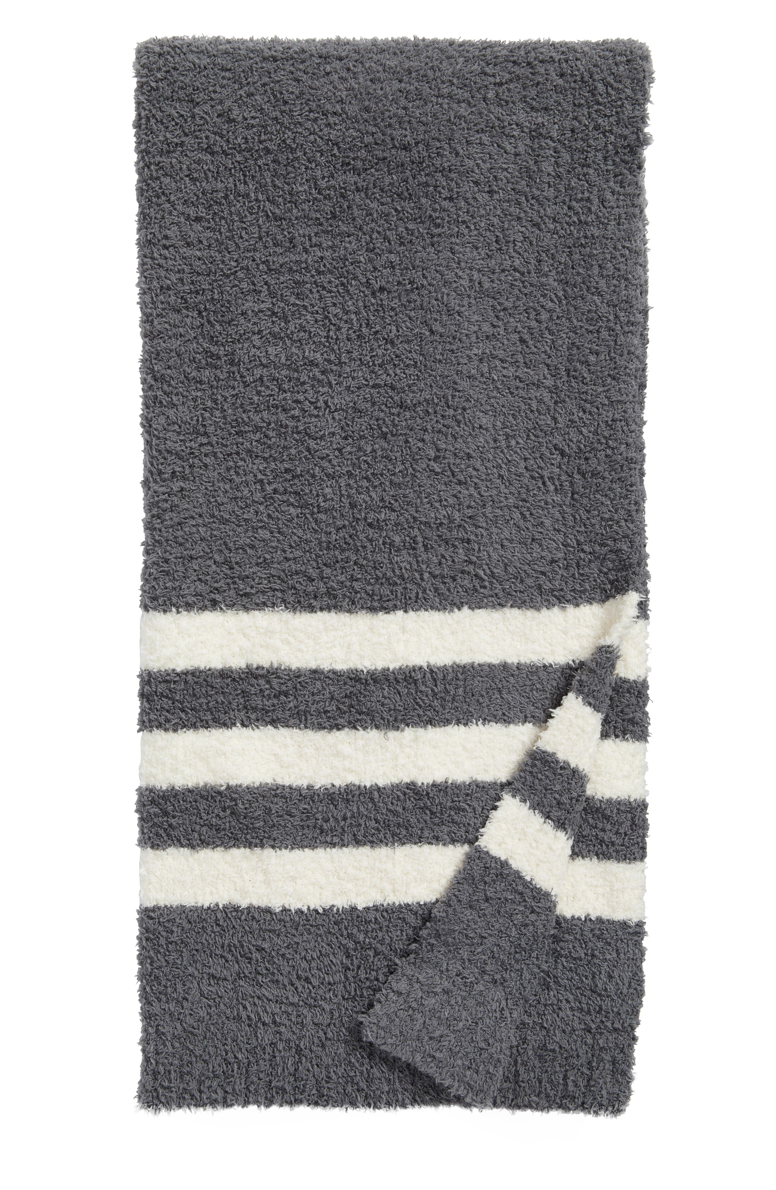 Barefoot Dreams Cozychic<sup>®</sup> Tri Stripe Throw Blanket,                             Main thumbnail 1, color,