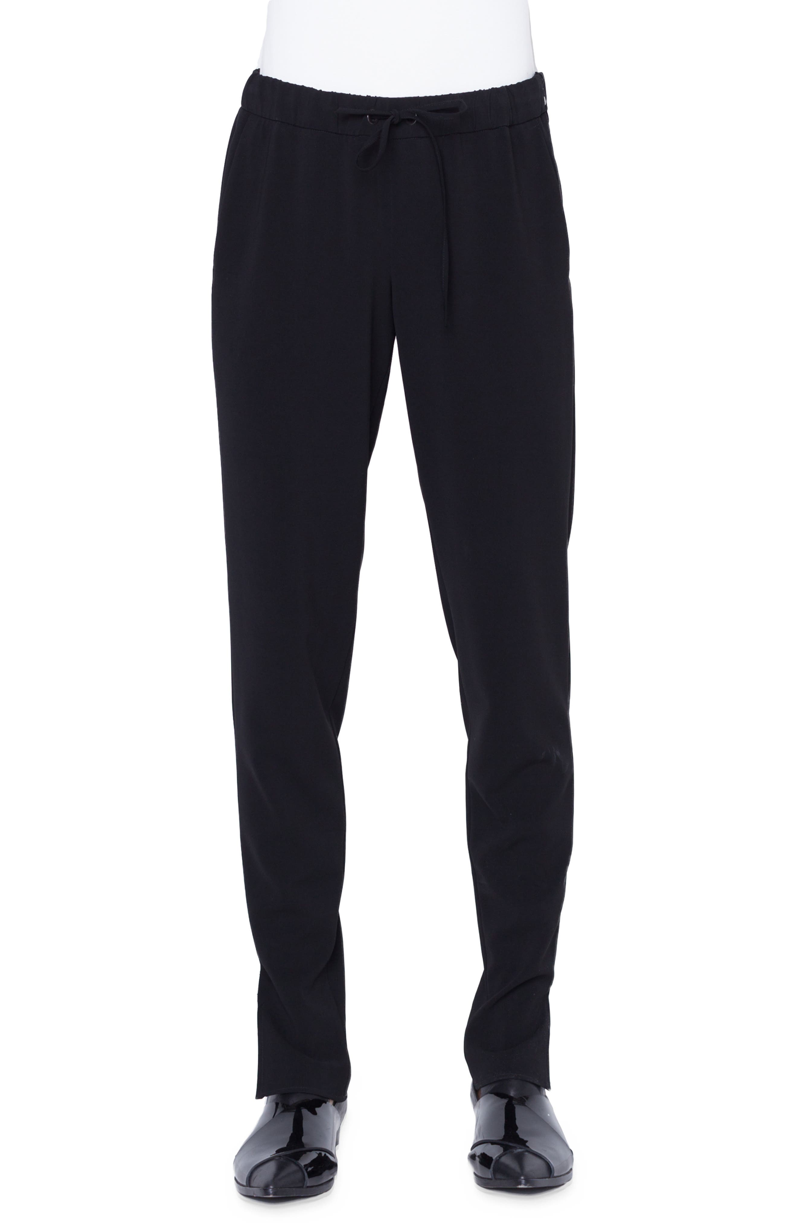 Mike Tapered Jersey Pants in Nero