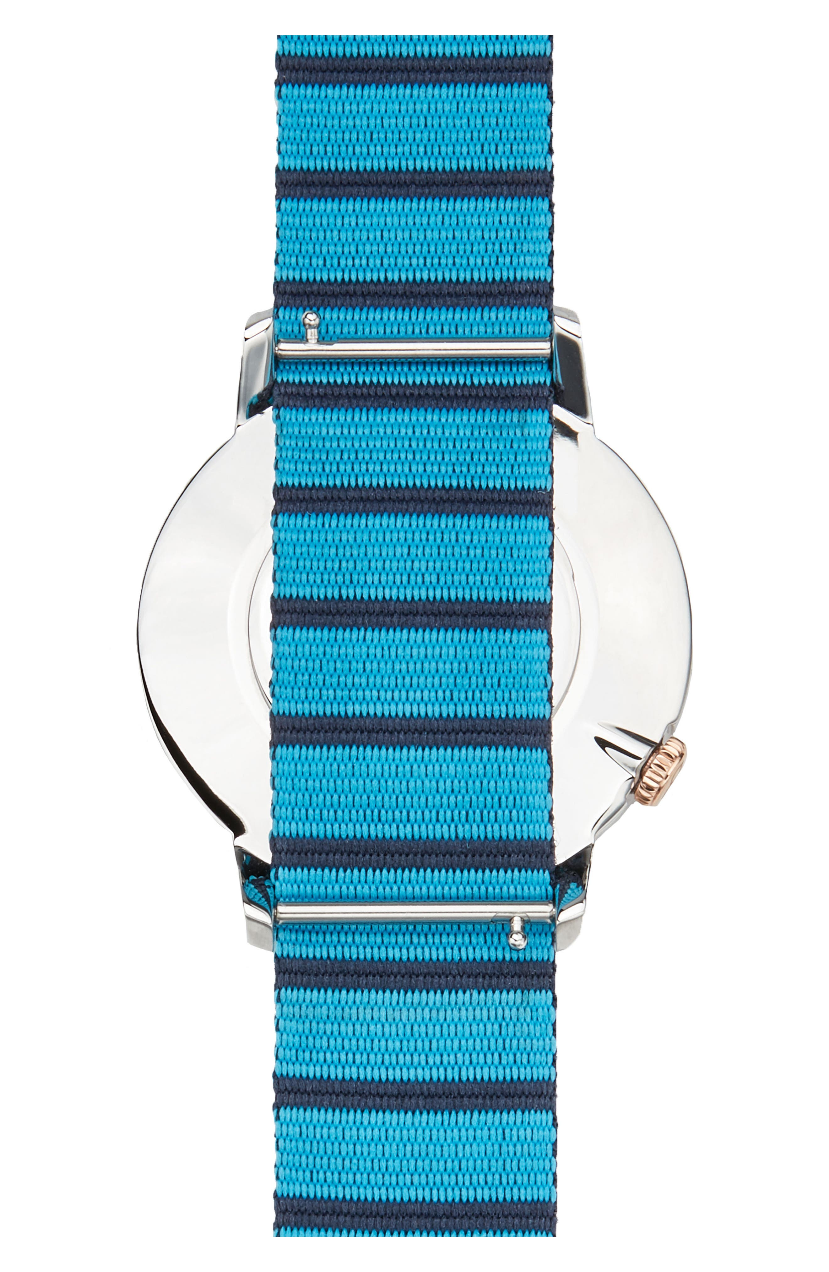 Davis Slim Nylon Strap Watch, 40mm,                             Alternate thumbnail 2, color,                             BLUE/ NAVY