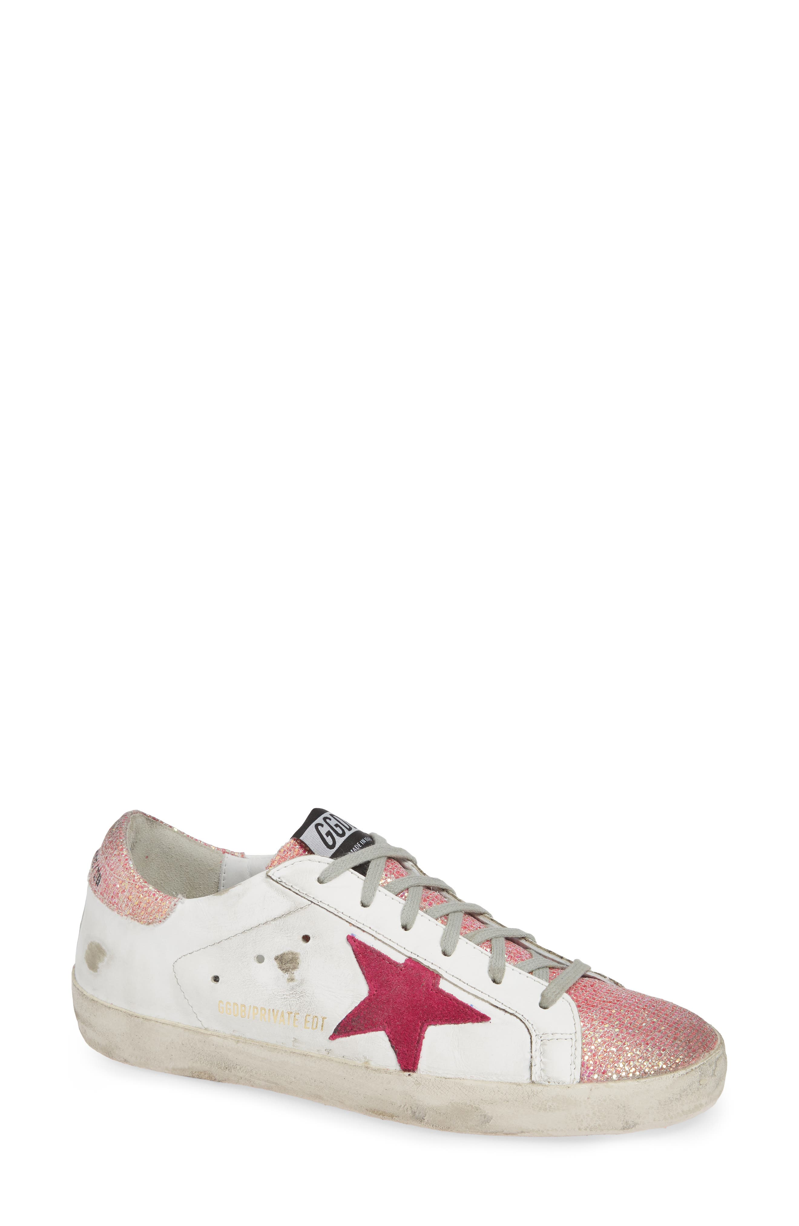 Superstar Sneaker,                             Main thumbnail 1, color,                             WHITE/ PINK