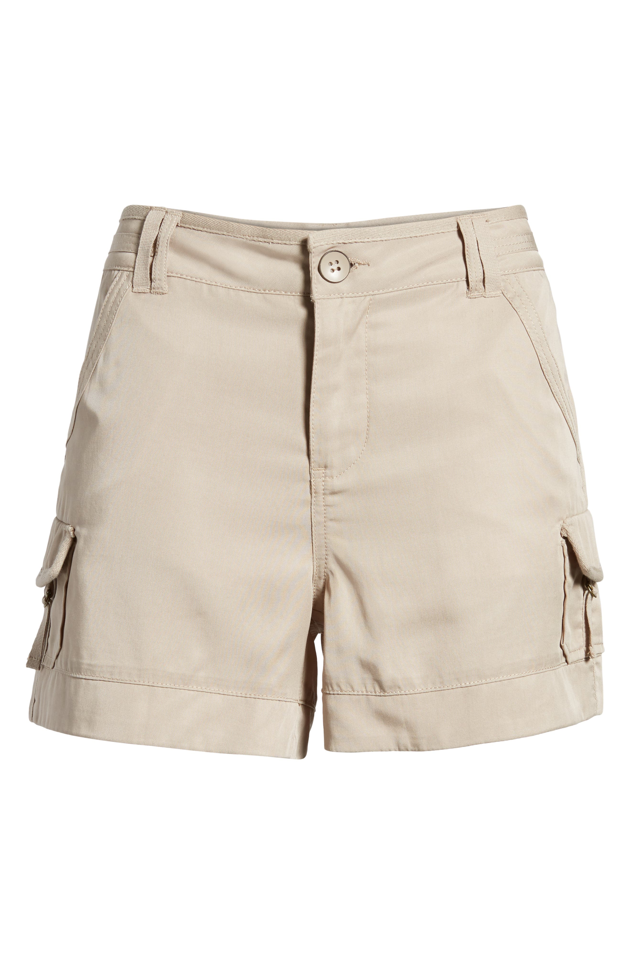 High Rise Tencel Shorts,                             Alternate thumbnail 23, color,
