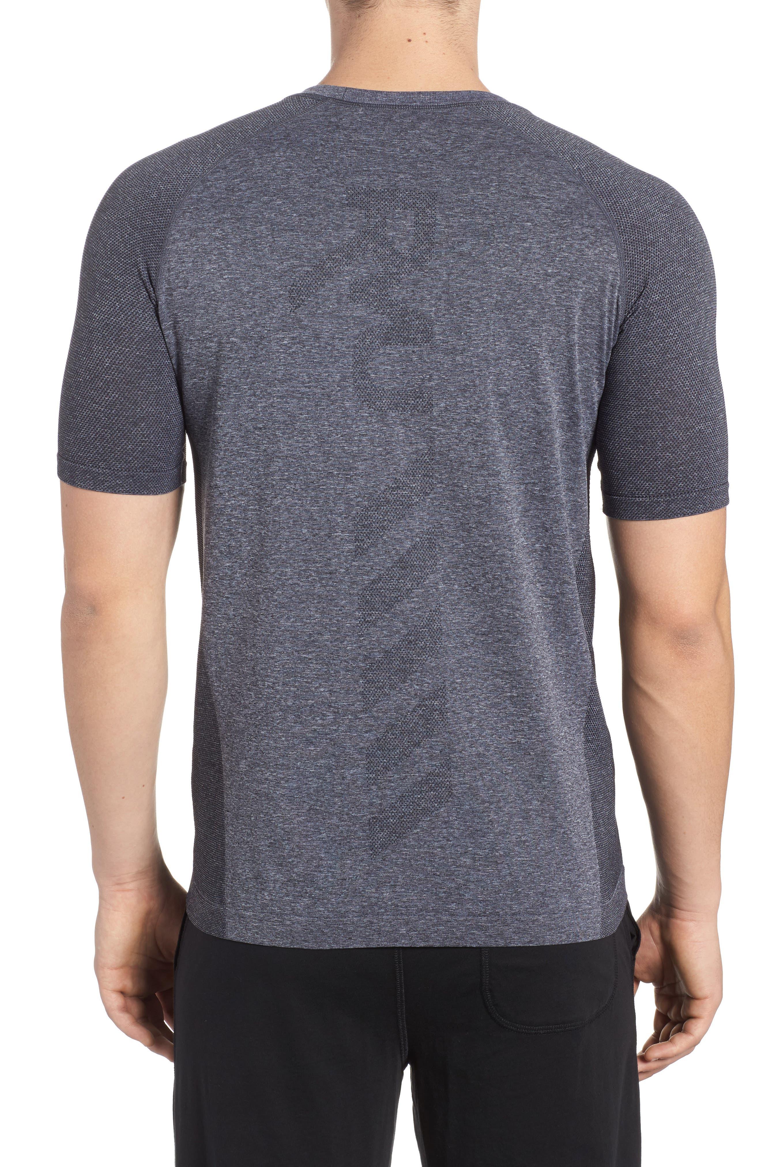 Vapor Performance T-Shirt,                             Alternate thumbnail 2, color,                             ASPHALT