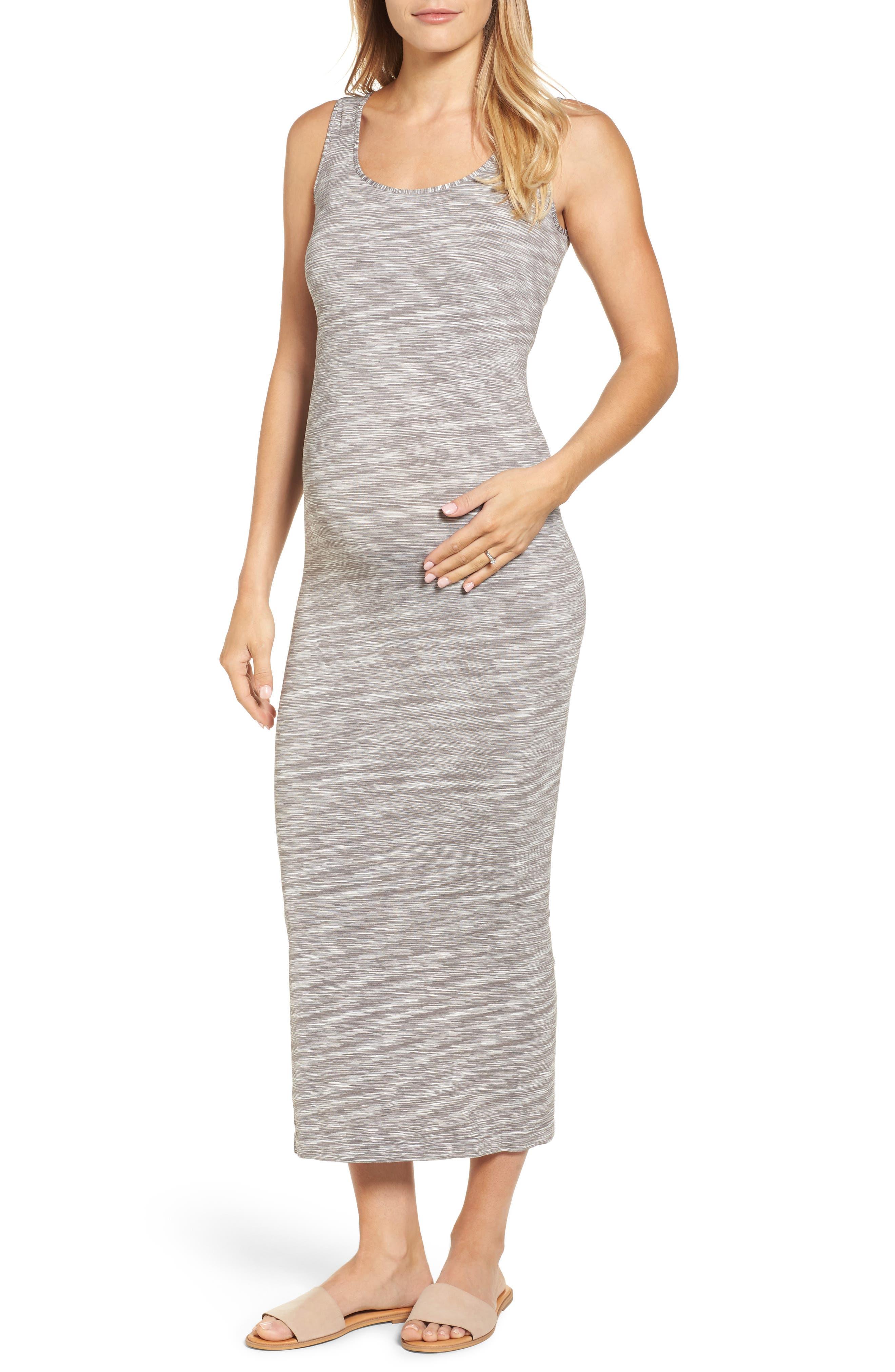 Marled Maxi Maternity Dress,                         Main,                         color, 020