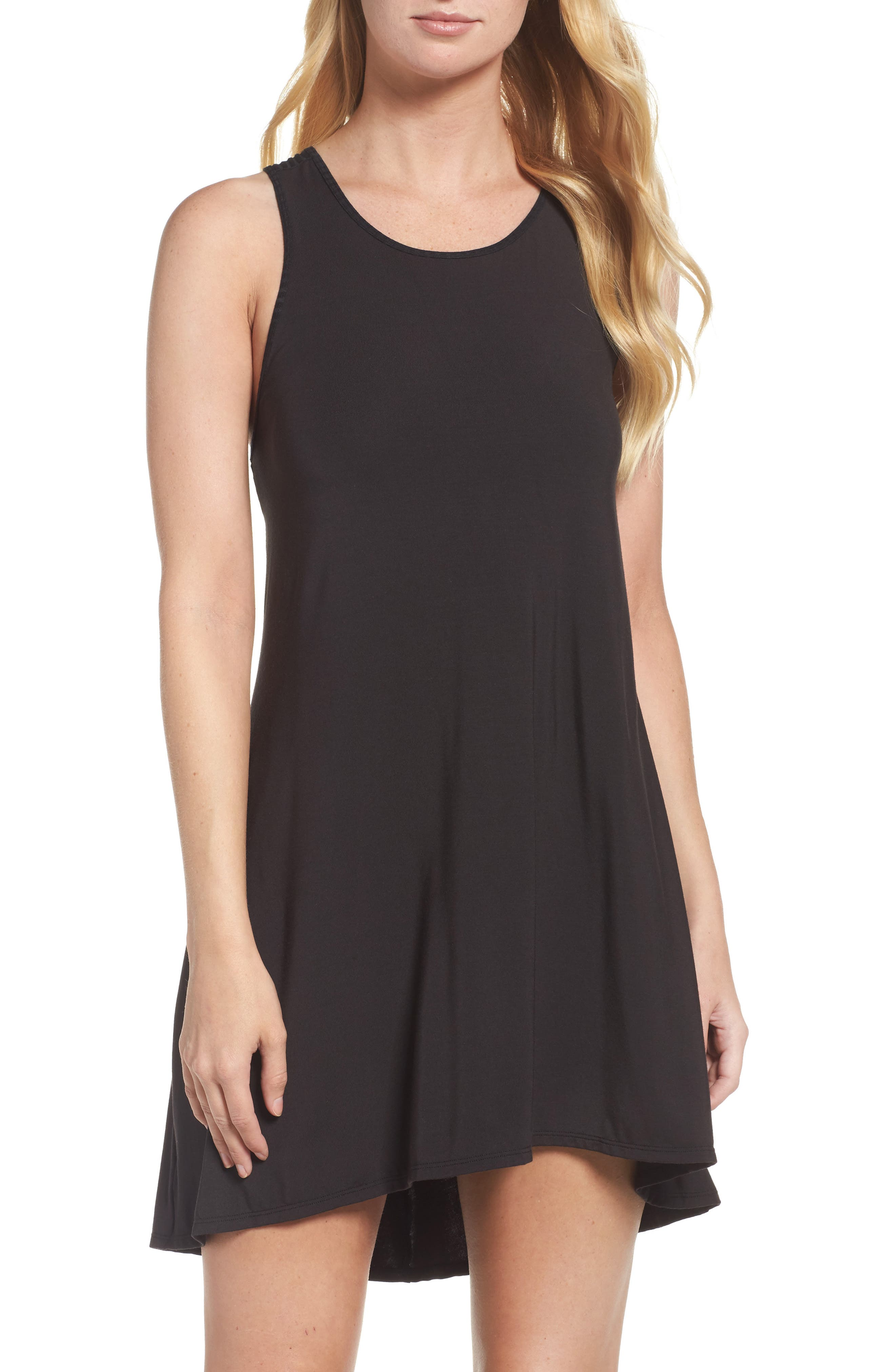 Chelsea High/Low Chemise,                             Main thumbnail 1, color,                             001