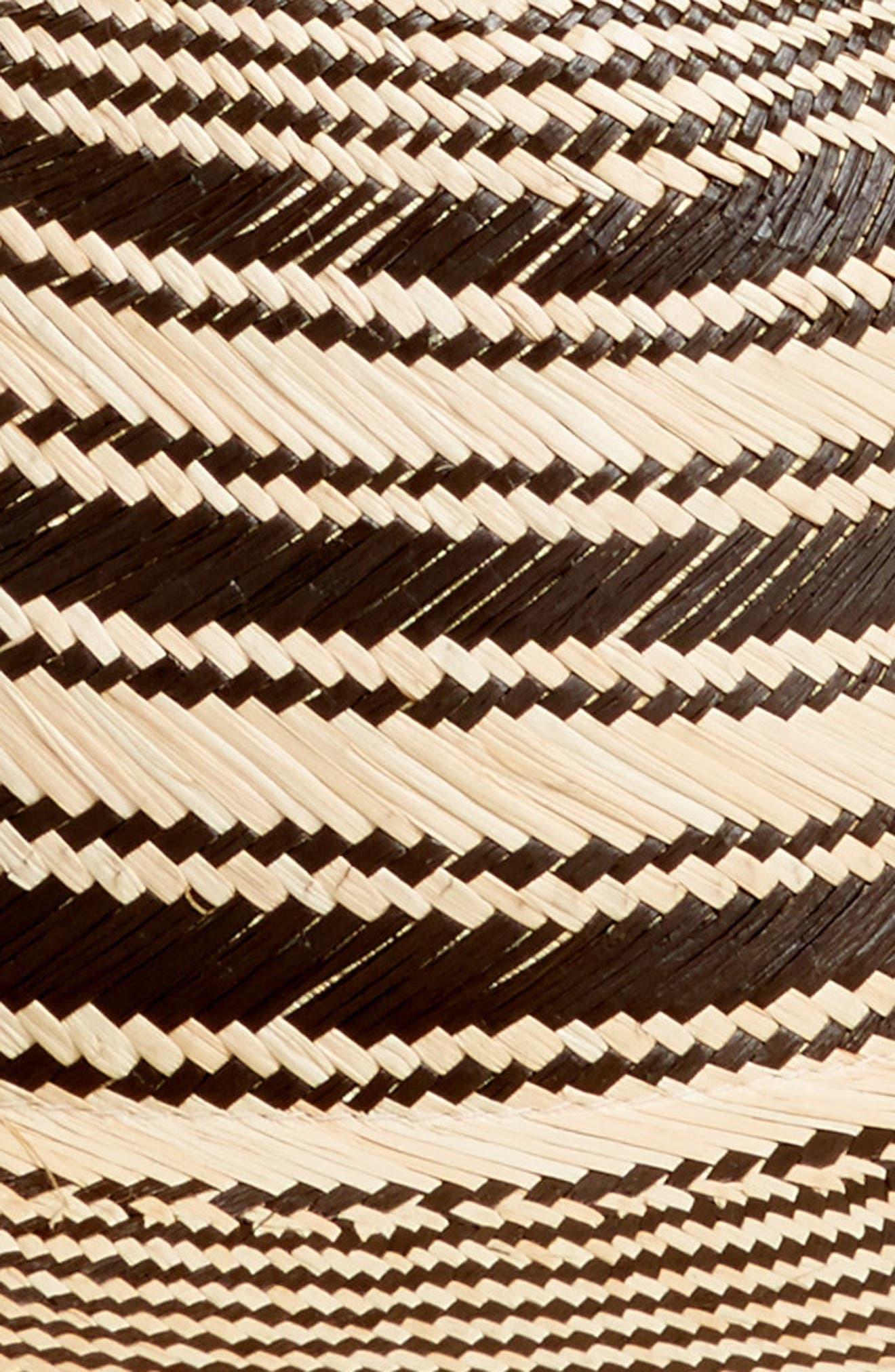 Stripe Panama Hat,                             Alternate thumbnail 2, color,                             001