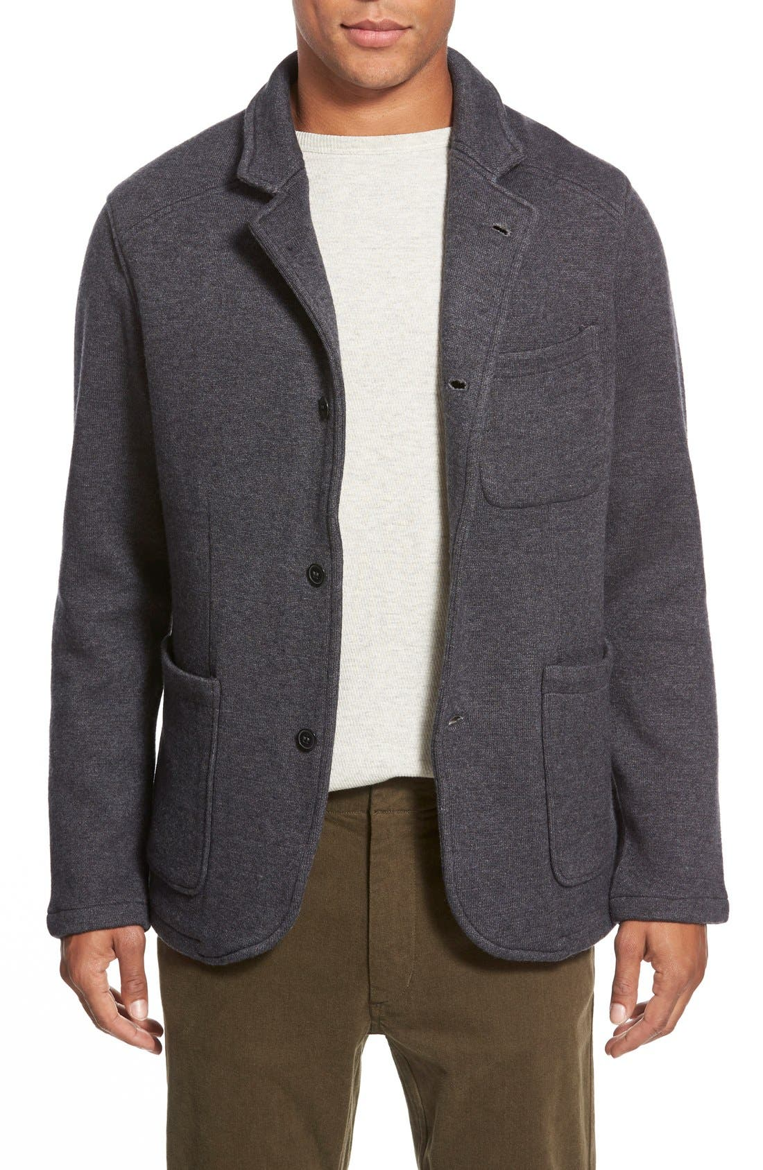 RELWEN Knit Cardigan Blazer, Main, color, 021