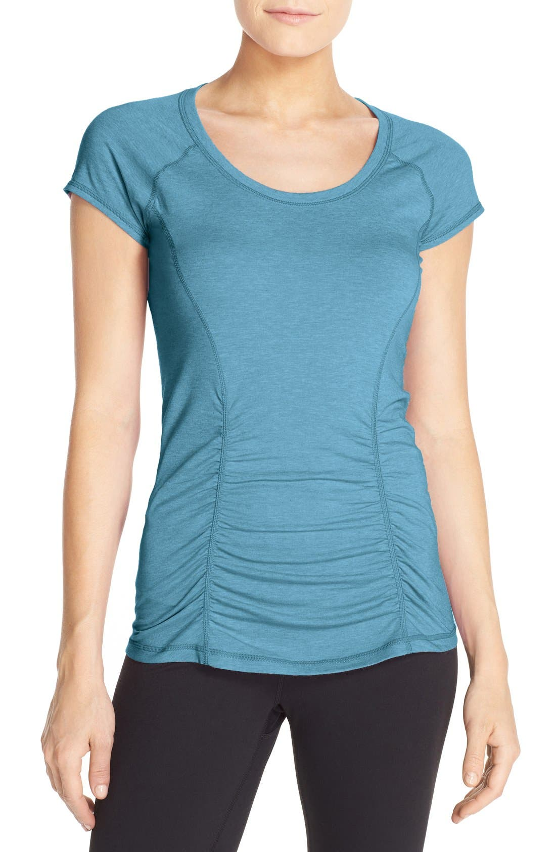 'Z 6' Ruched Tee,                             Main thumbnail 9, color,