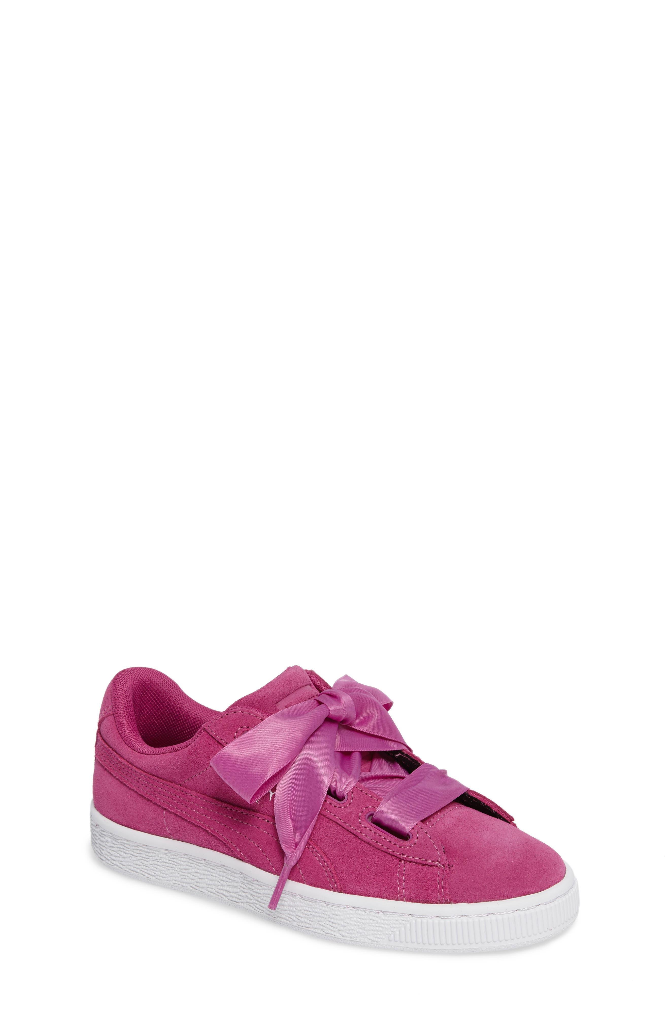 Suede Heart Sneaker,                         Main,                         color, 690