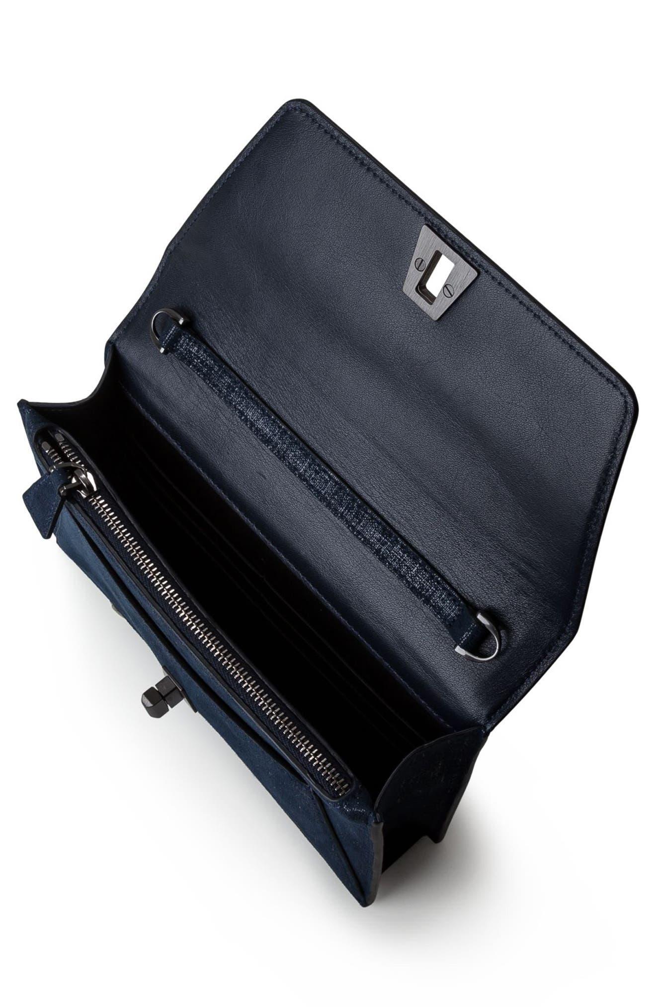 Anouk Leather Shoulder Bag,                             Alternate thumbnail 3, color,