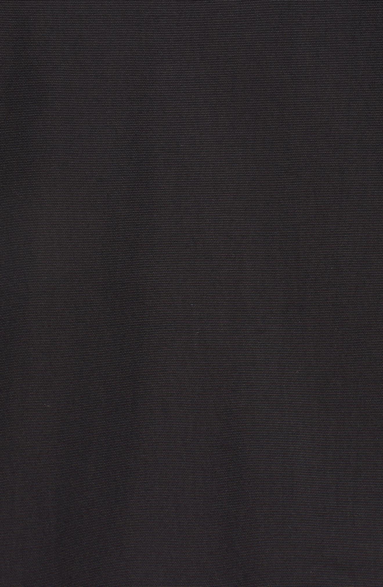 Bardu Waterproof Bomber Jacket with Detachable Hood and Faux Fur Trim,                             Alternate thumbnail 7, color,                             BLACK