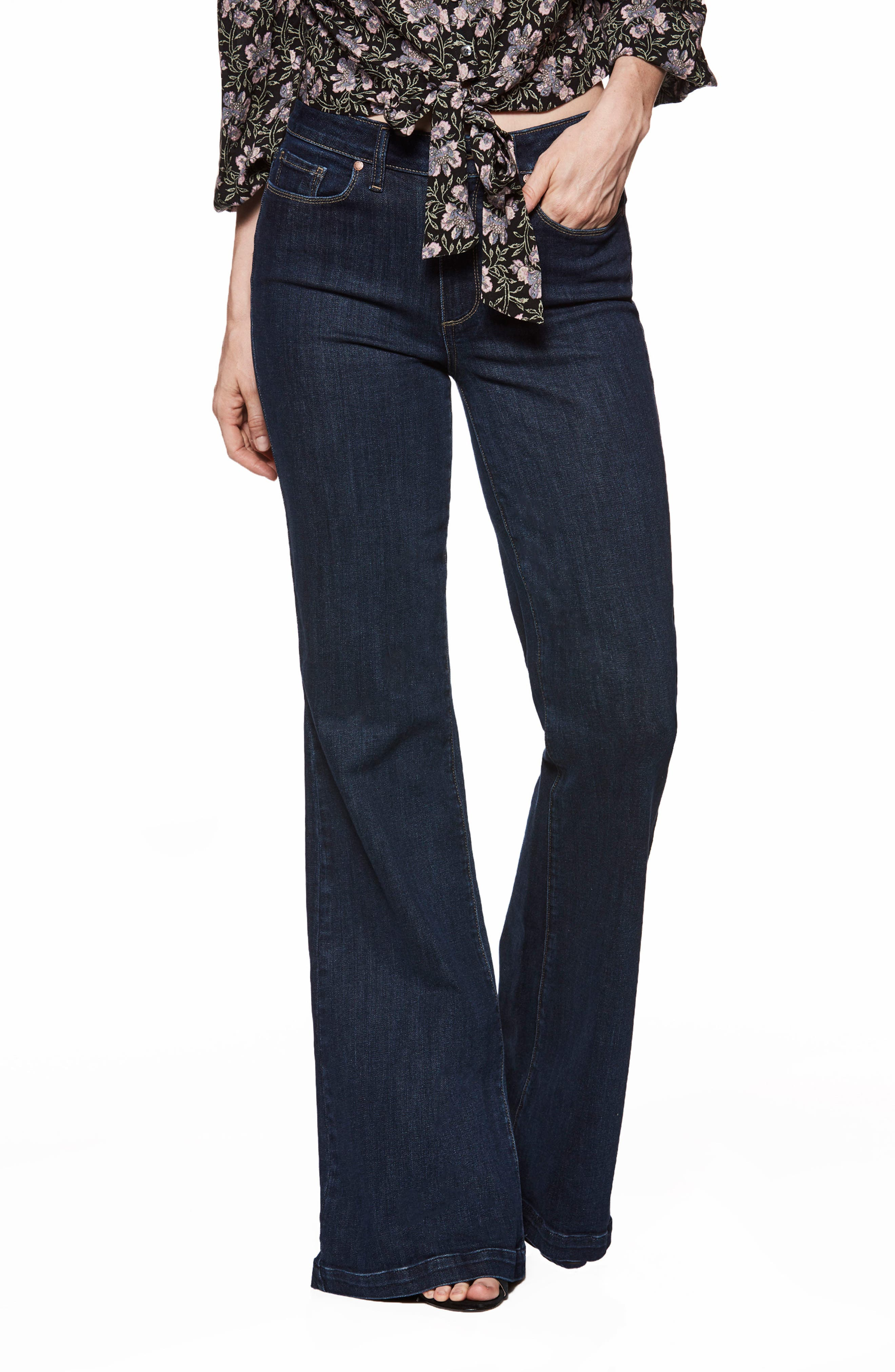 Genevieve Flare Jeans,                             Main thumbnail 1, color,                             400