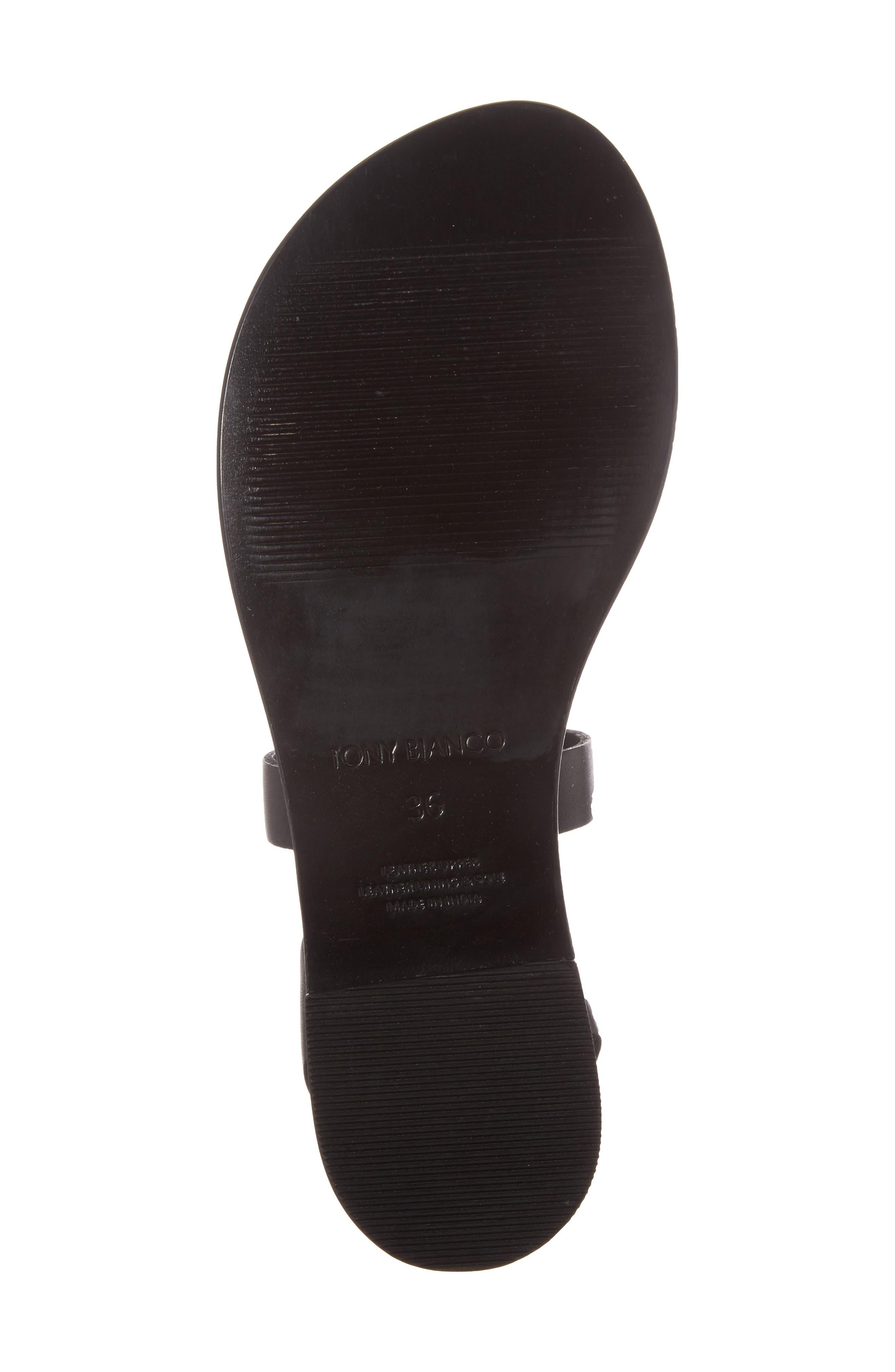 Flo Ankle Strap Sandal,                             Alternate thumbnail 6, color,                             001