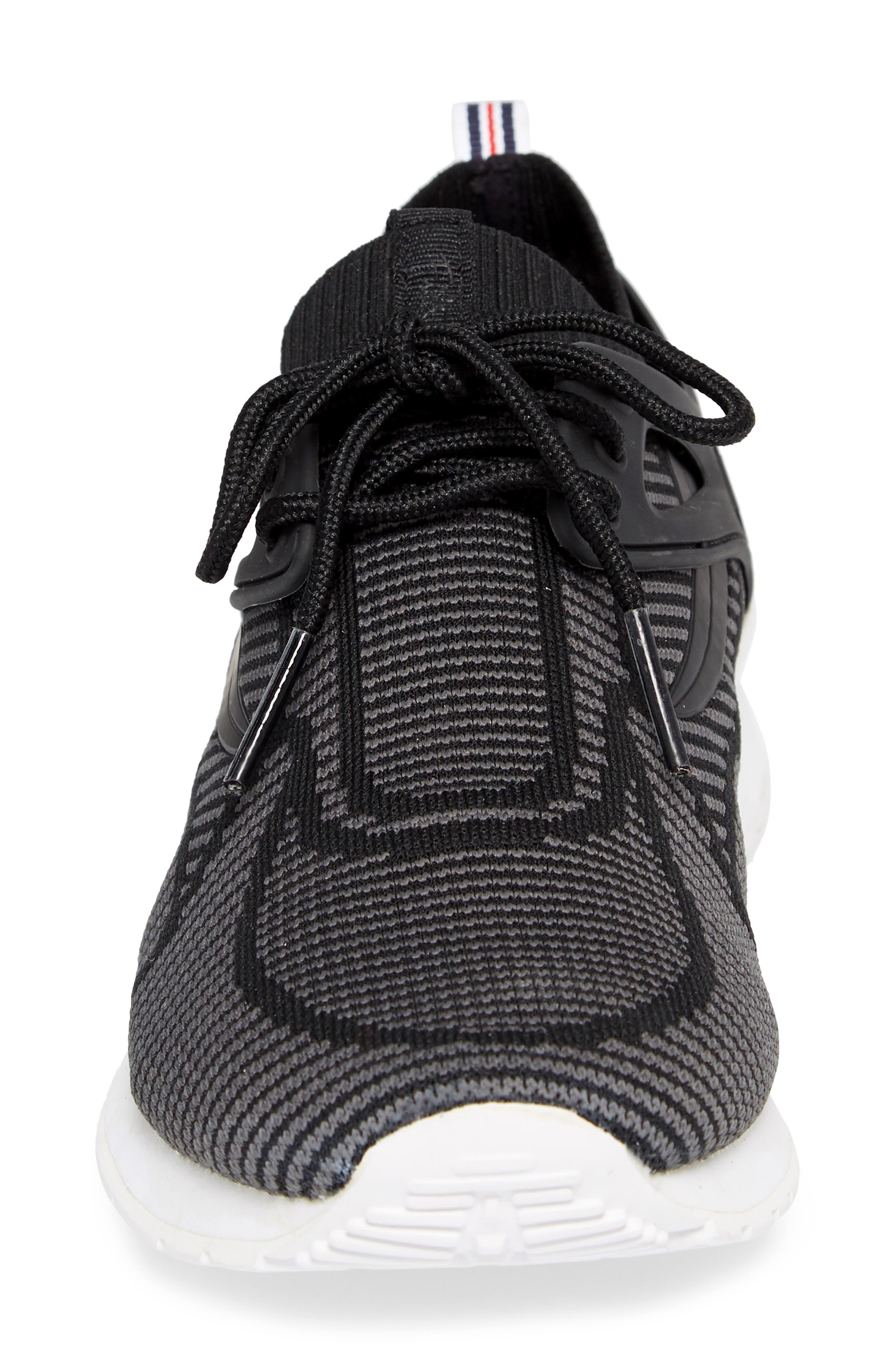 Overpass 2.0 Knit Sneaker,                             Alternate thumbnail 4, color,                             BLACK/ WHITE