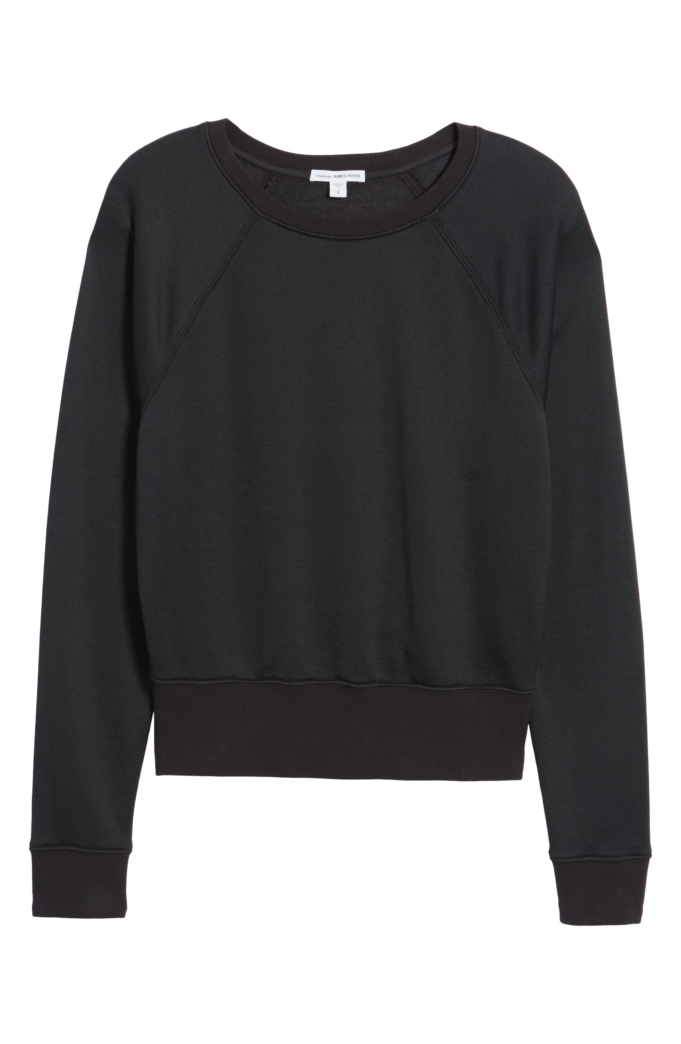 Shrunken Fleece Sweatshirt,                             Alternate thumbnail 6, color,                             027