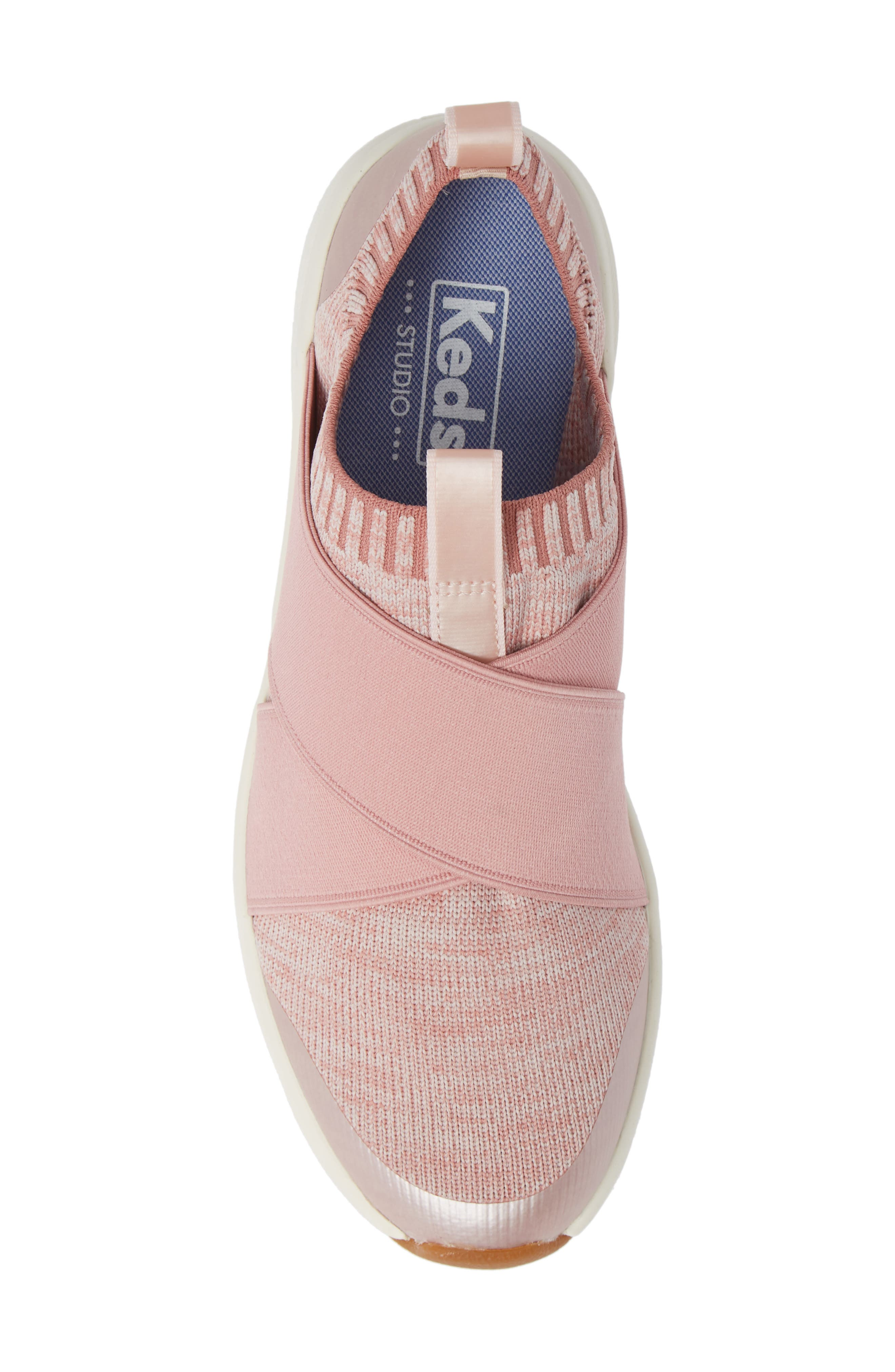 KEDS<SUP>®</SUP>,                             Studio Jumper Knit Sneaker,                             Alternate thumbnail 5, color,                             LIGHT PINK
