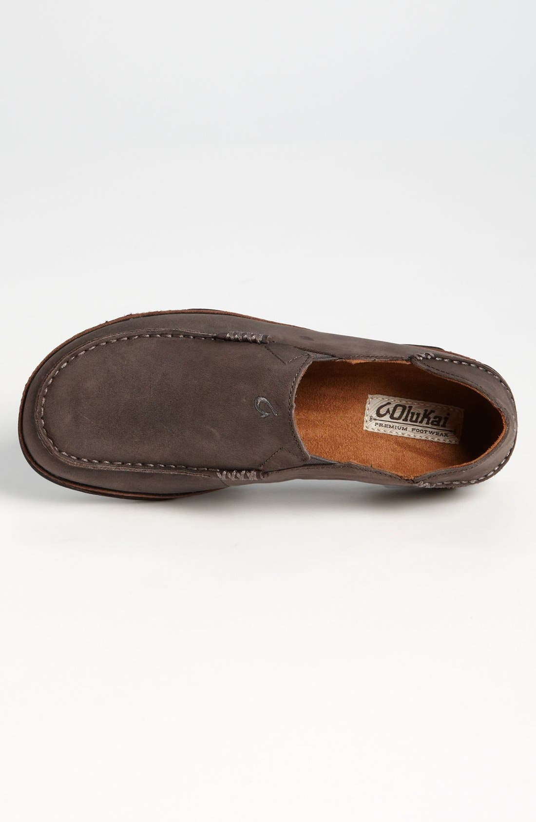 Moloa Slip-On,                             Alternate thumbnail 4, color,                             STORM GREY/ DARK WOOD