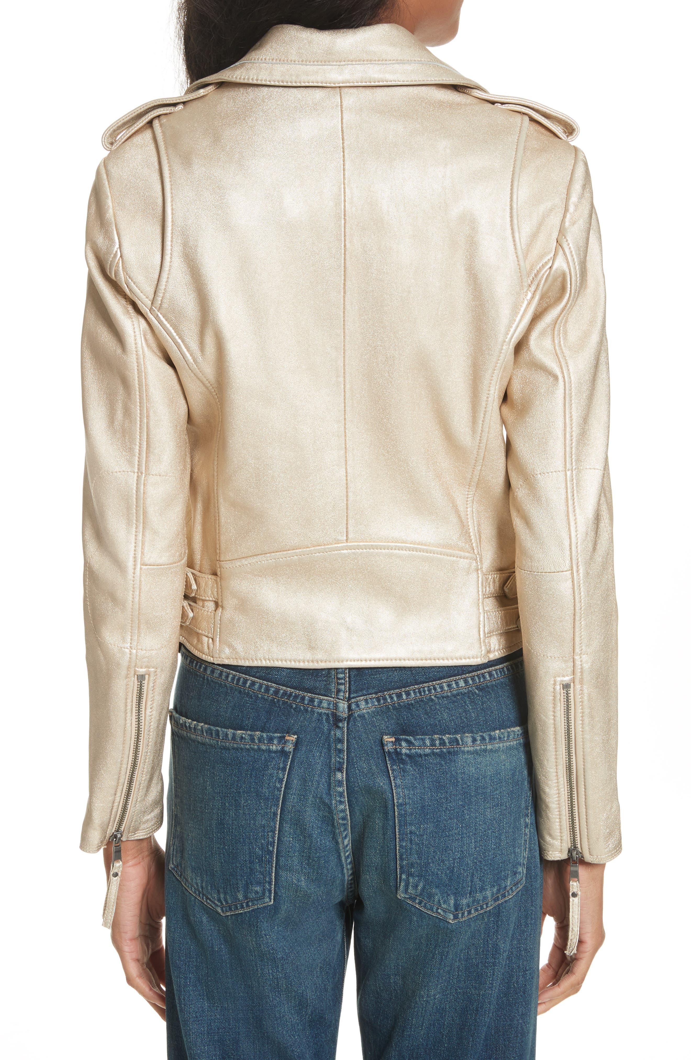 Leolani Leather Jacket,                             Alternate thumbnail 4, color,