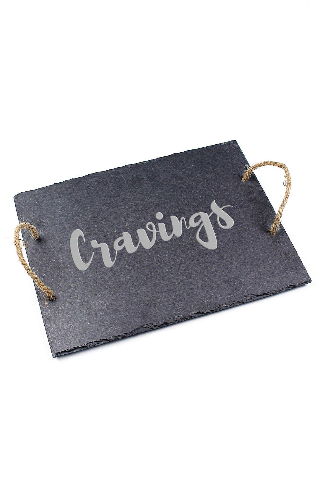 'Cravings' Slate Serving Board,                             Alternate thumbnail 2, color,                             001
