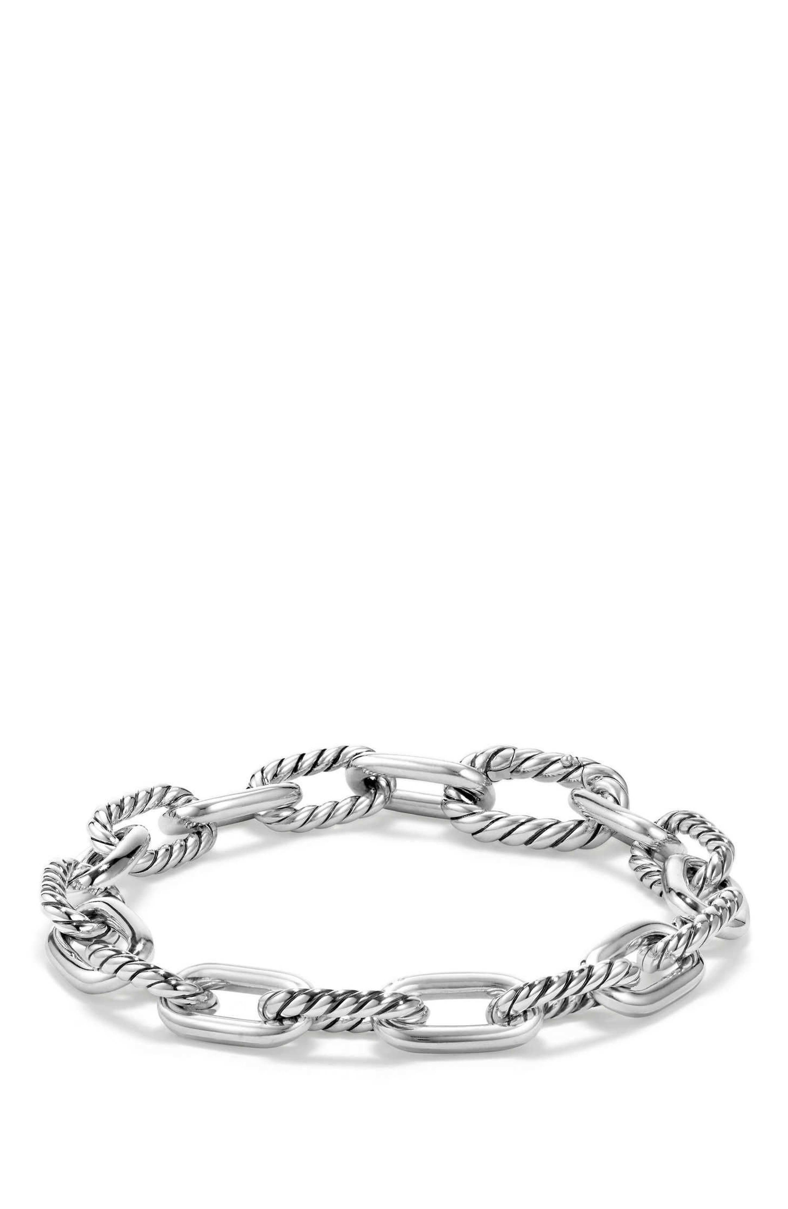 DY Madison Chain Small Bracelet,                         Main,                         color, SILVER