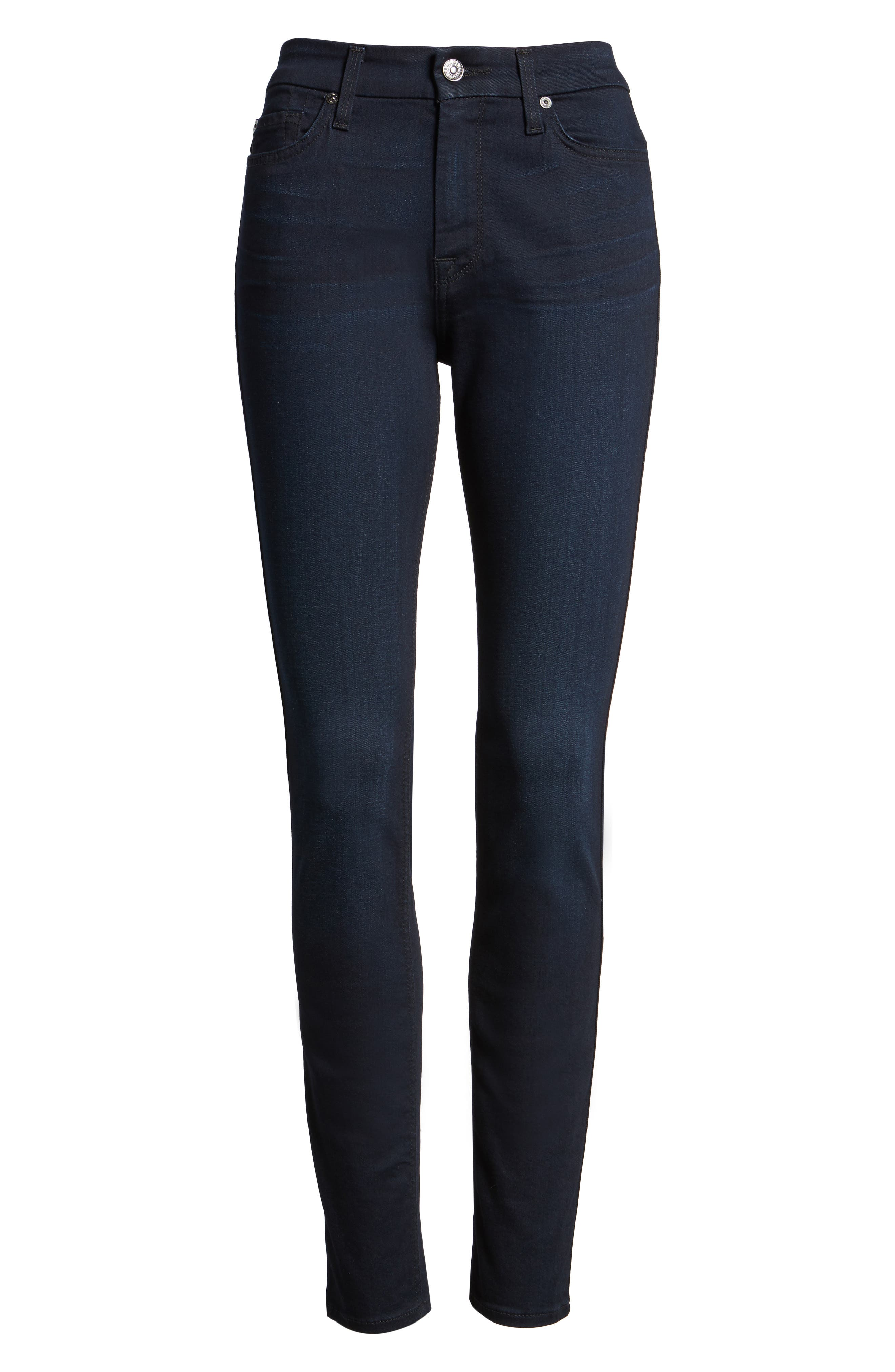 7 For All Mankind b(air) High Waist Skinny Jeans,                             Main thumbnail 1, color,                             400
