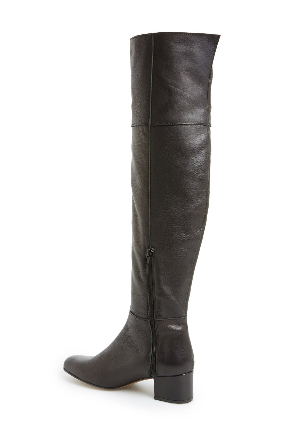 'Canada' Over the Knee Leather Boot,                             Alternate thumbnail 2, color,                             001