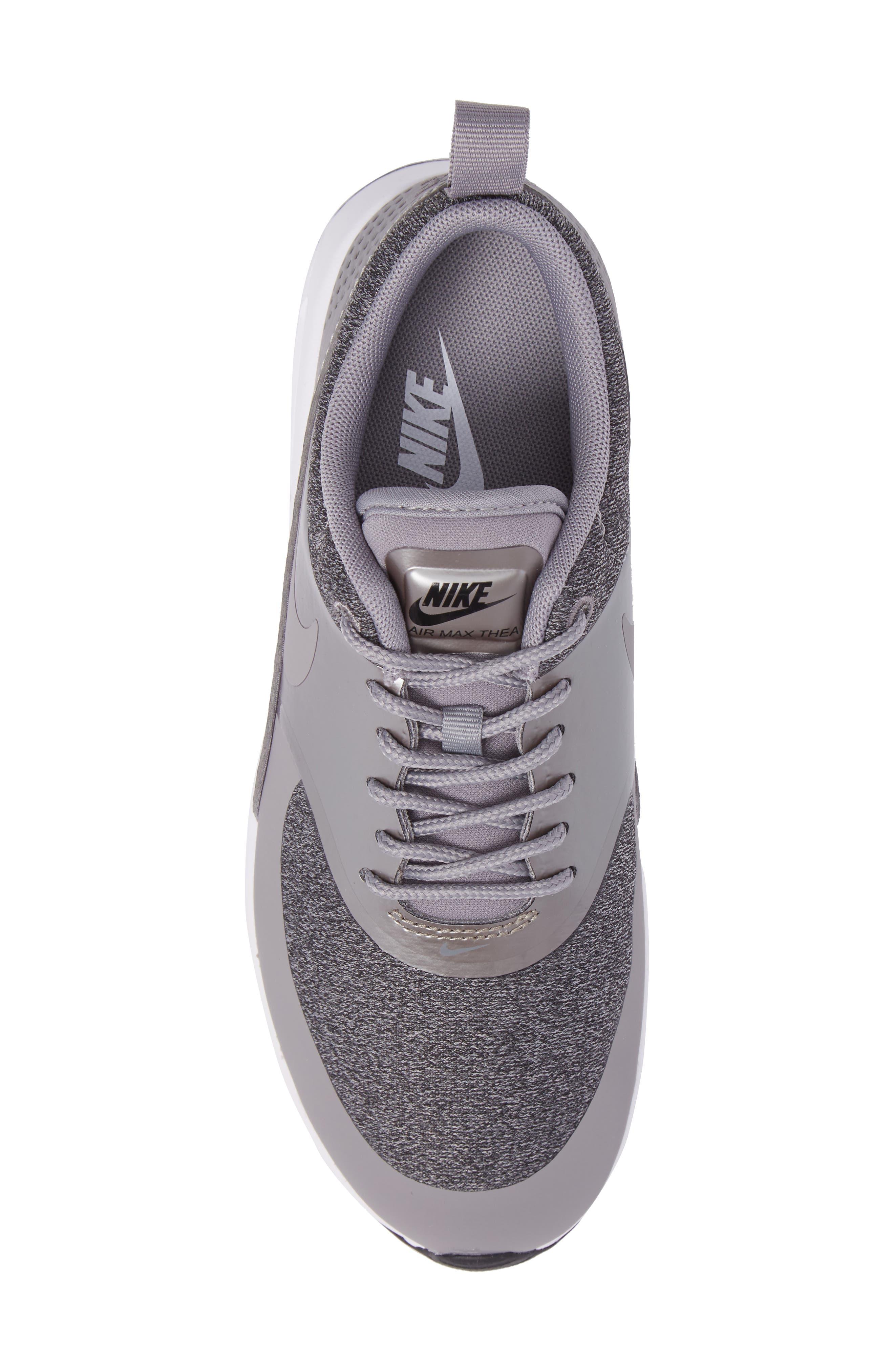 Air Max Thea Knit Sneaker,                             Alternate thumbnail 5, color,                             020