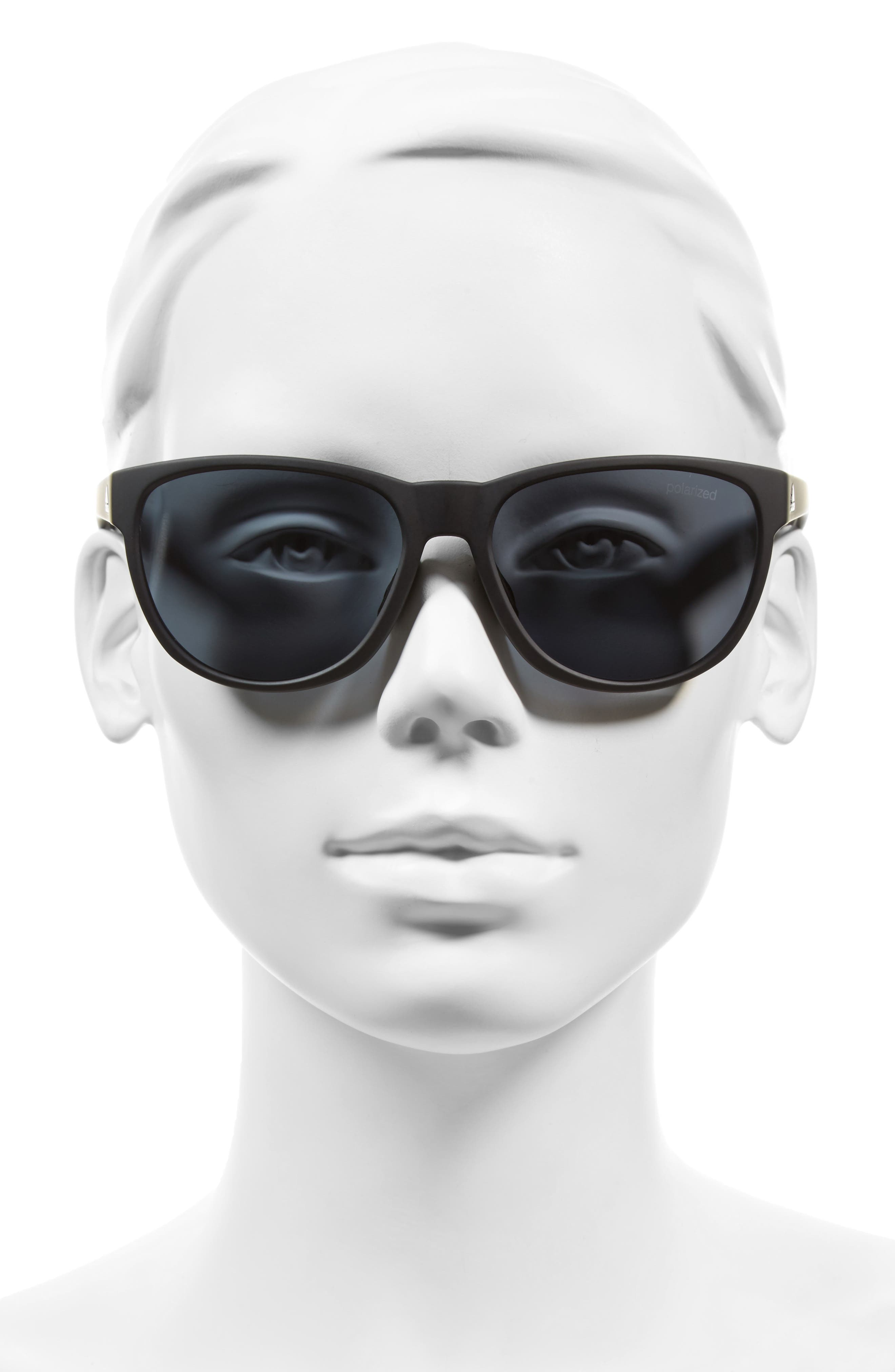 Wildcharge 61mm Polarized Sunglasses,                             Alternate thumbnail 2, color,                             001