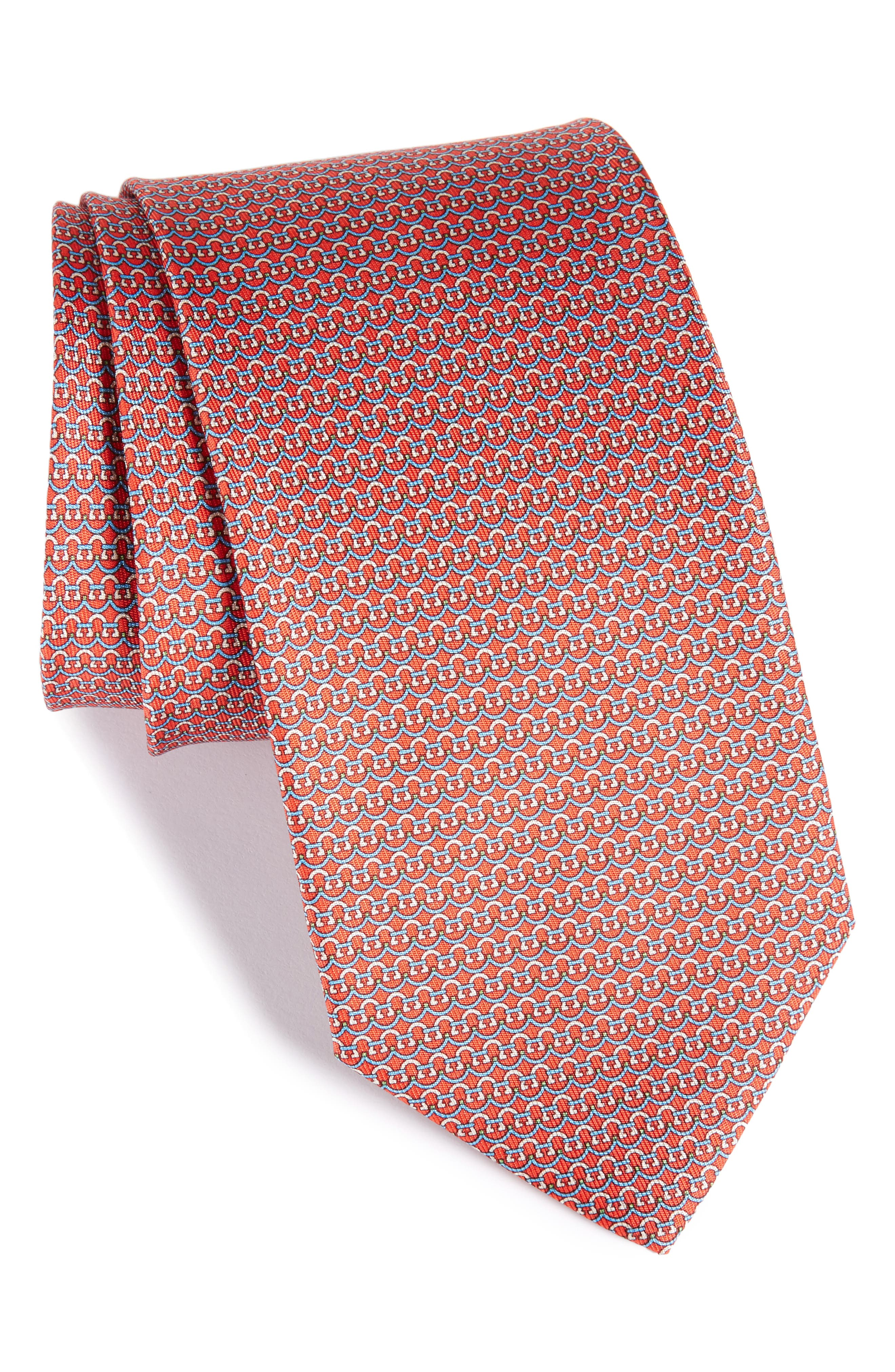 Gancini Silk Tie,                             Main thumbnail 3, color,