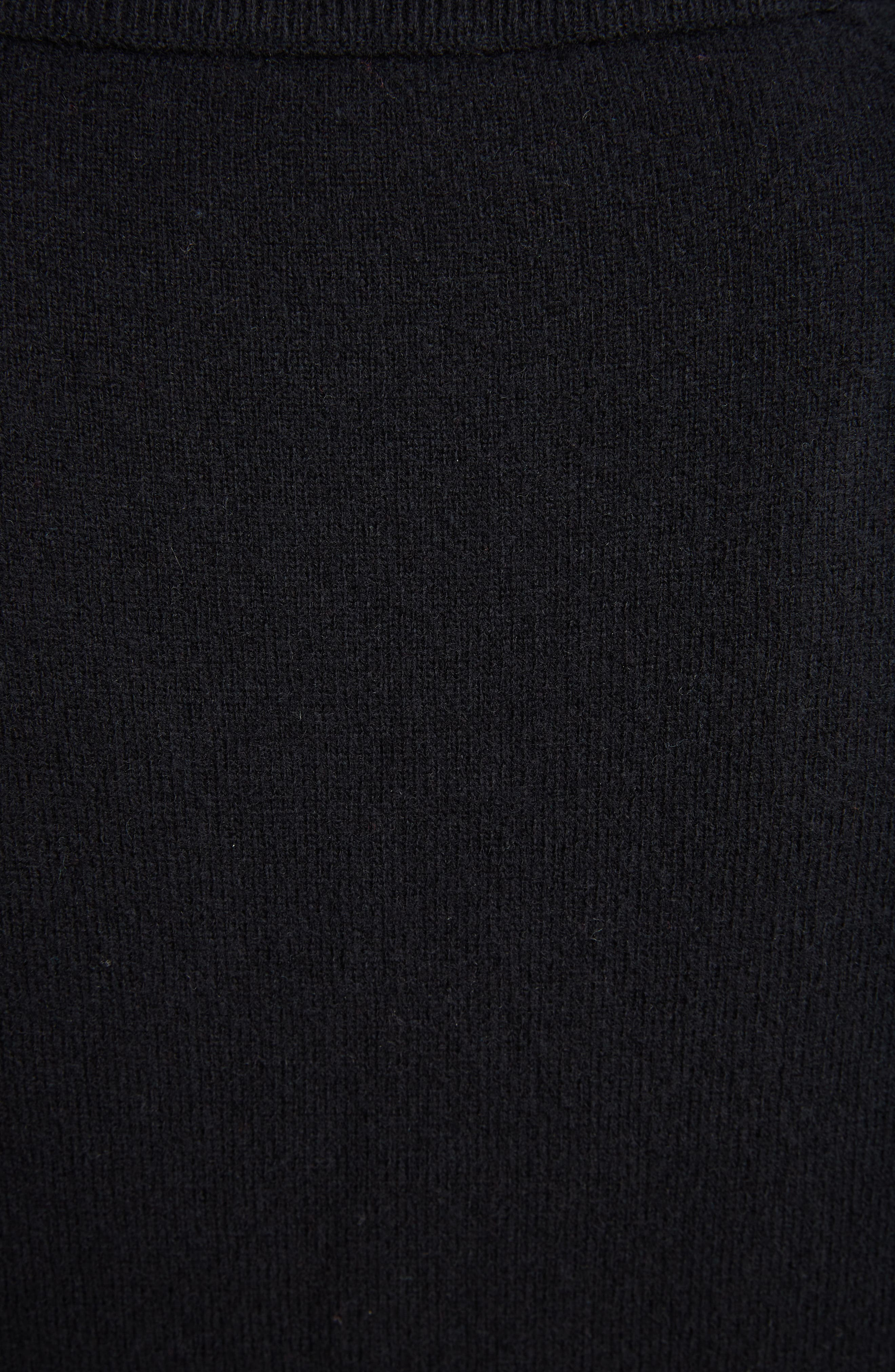 Neve Wool Cardigan,                             Alternate thumbnail 5, color,                             BLACK