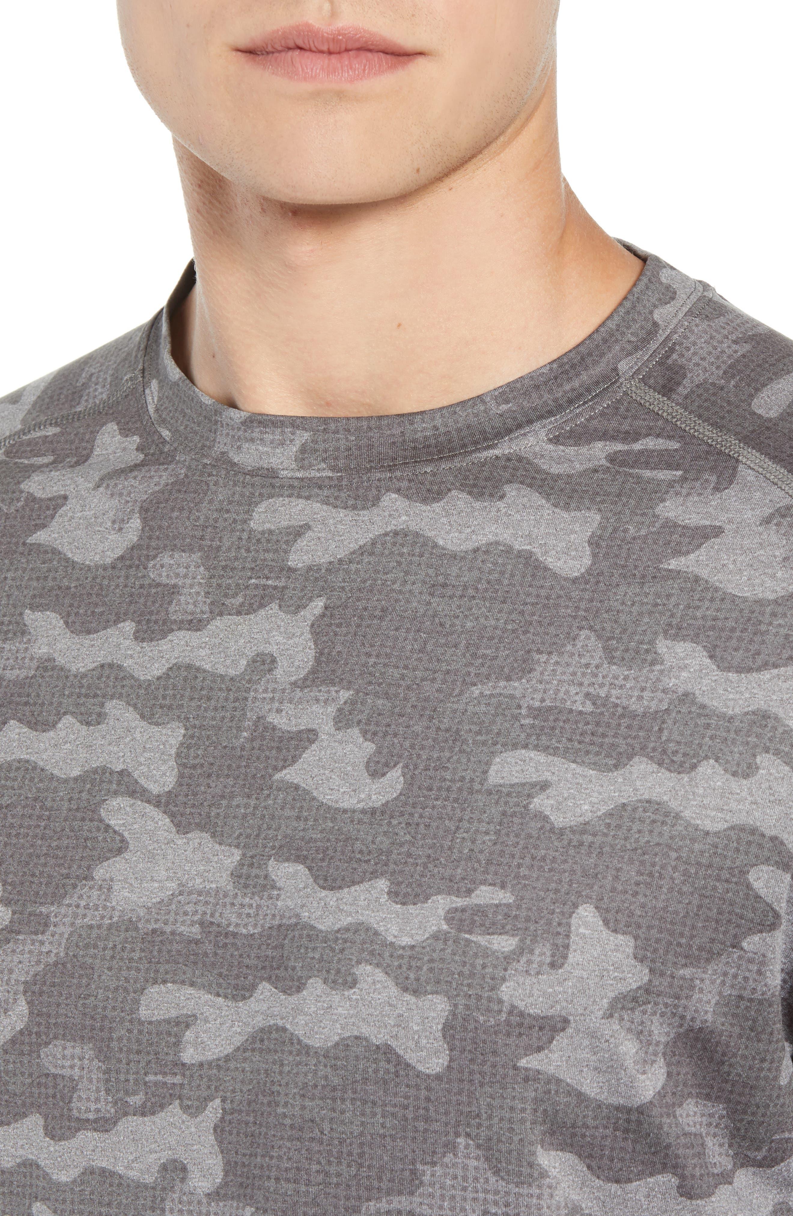 Rio Camo Tech T-Shirt,                             Alternate thumbnail 4, color,                             GREY
