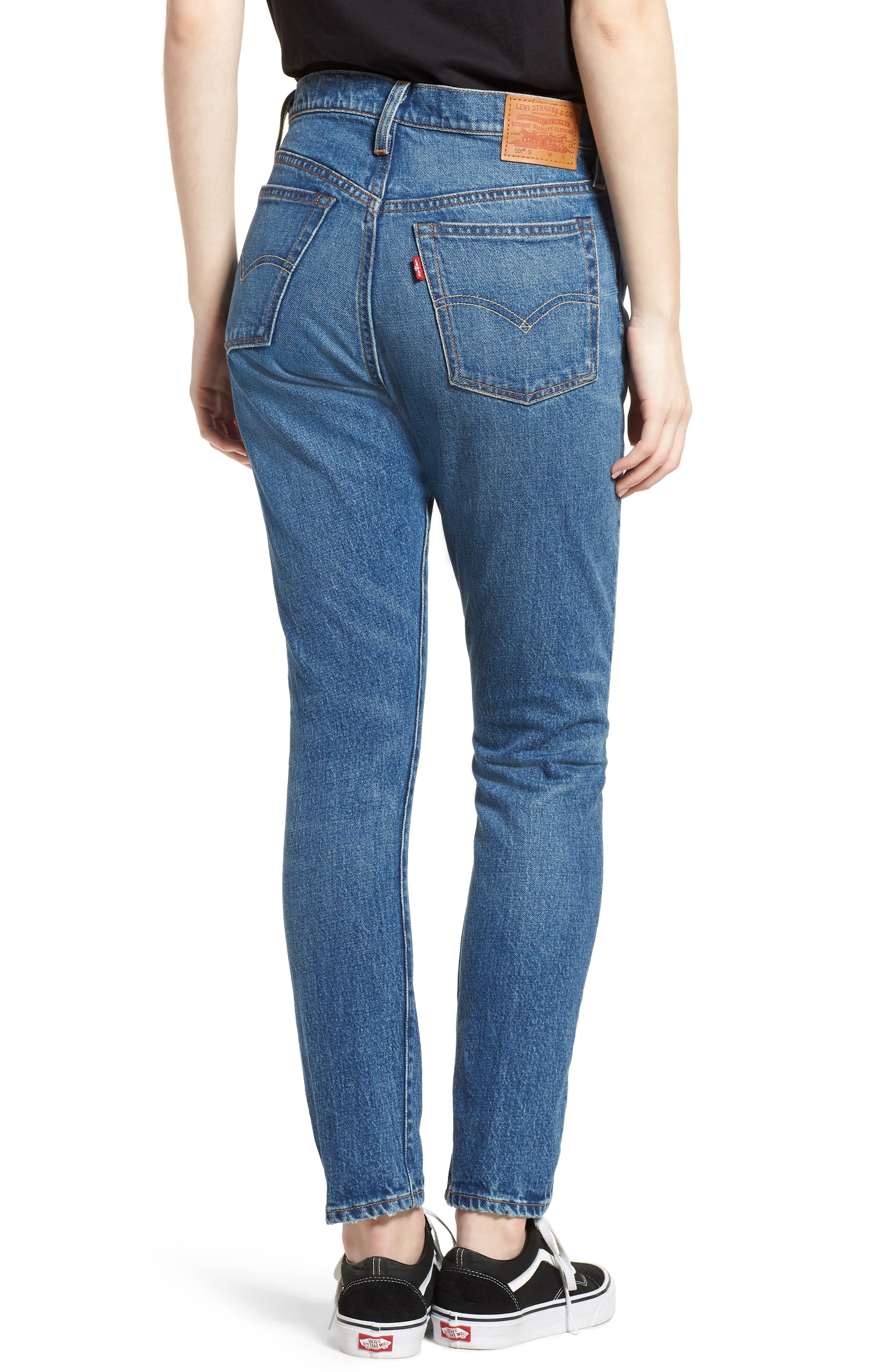 501<sup>™</sup> High Waist Skinny Jeans,                             Alternate thumbnail 2, color,                             WE THE PEOPLE