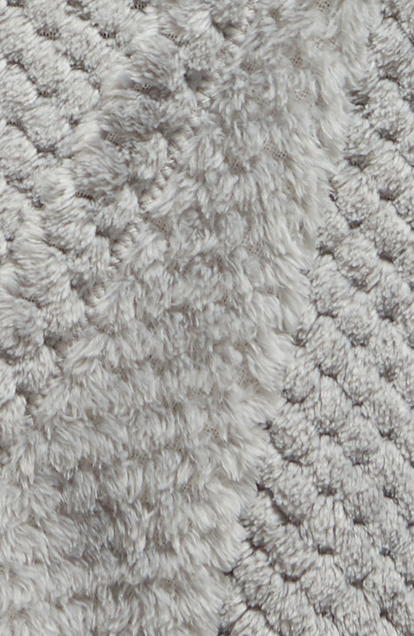 Waffle Plush Throw Blanket,                             Alternate thumbnail 2, color,                             GREY FROST