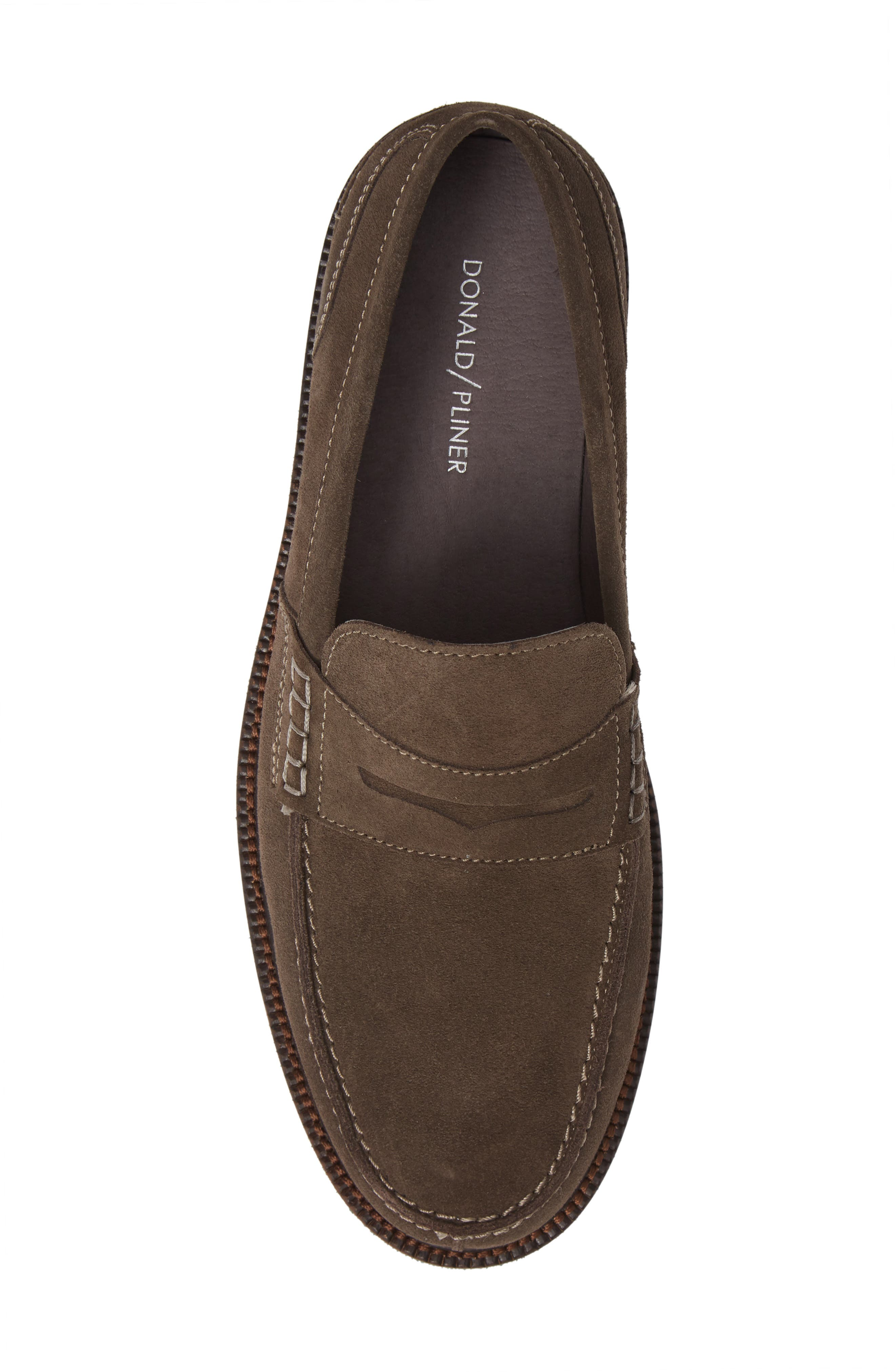 Landry Penny Loafer,                             Alternate thumbnail 5, color,                             GREY SUEDE