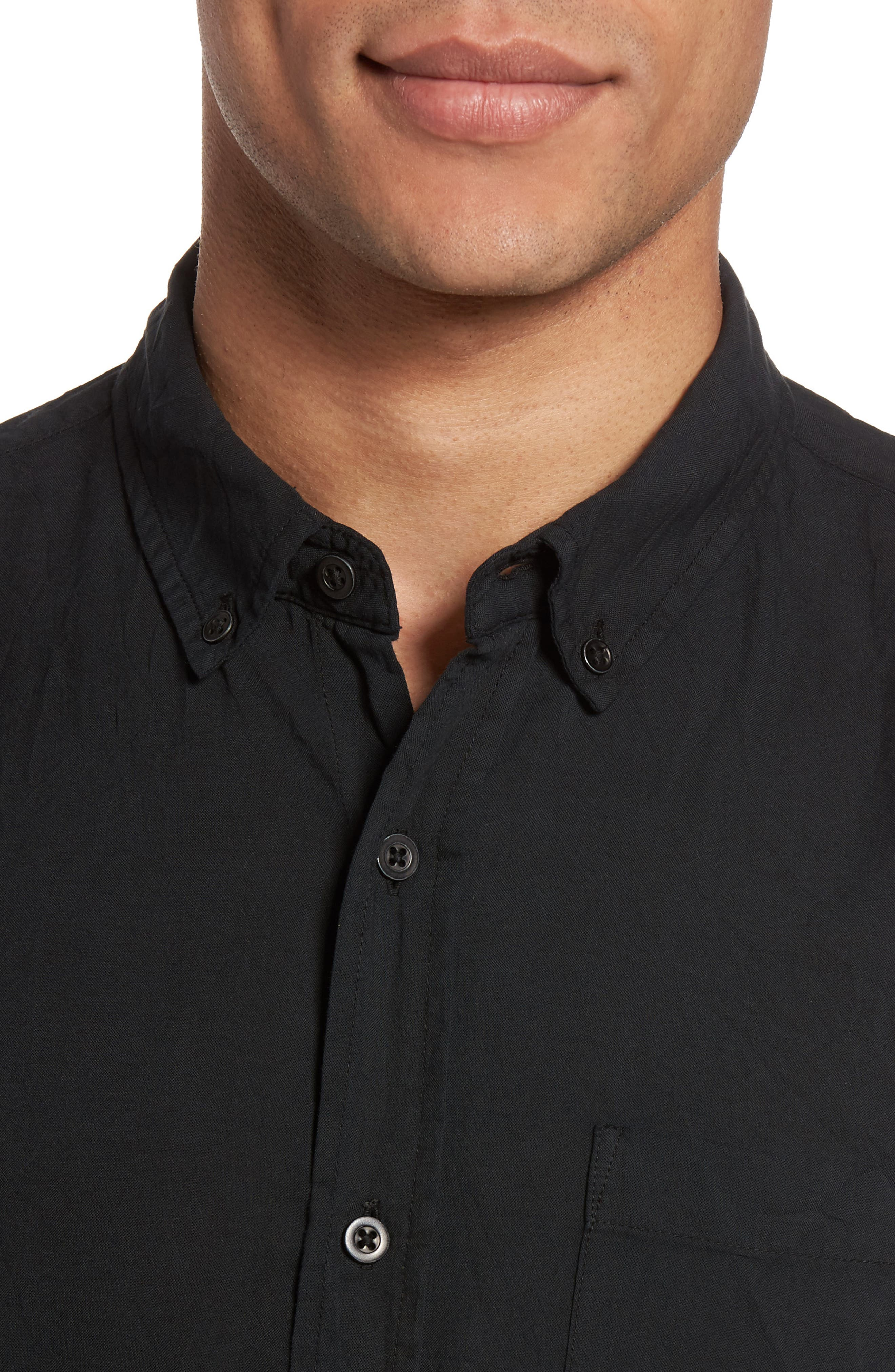 Grady Slim Fit Organic Cotton Sport Shirt,                             Alternate thumbnail 7, color,