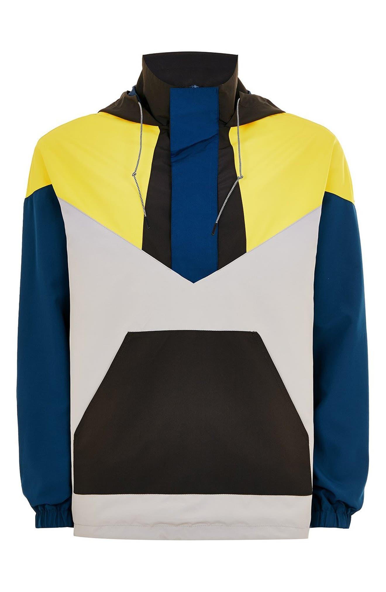 Half-Zip Pullover Hooded Jacket,                             Alternate thumbnail 4, color,                             001