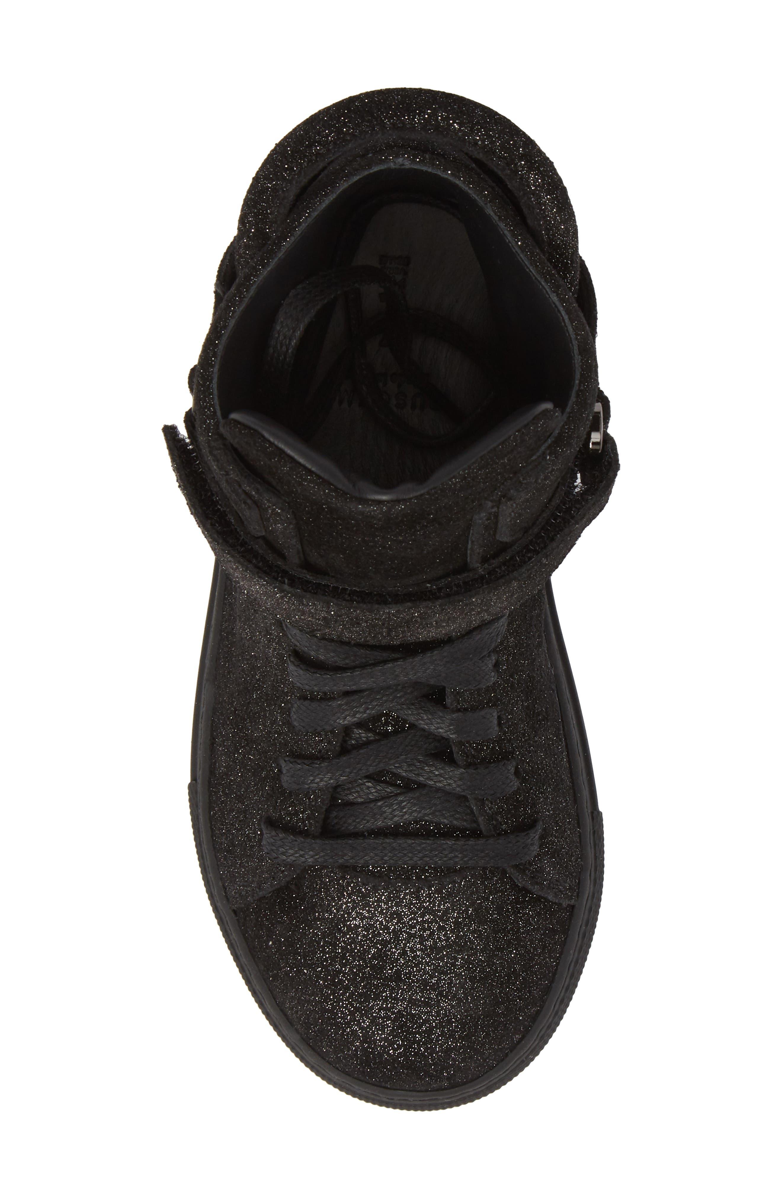 BUSCEMI,                             Gleam High Top Sneaker,                             Alternate thumbnail 5, color,                             001