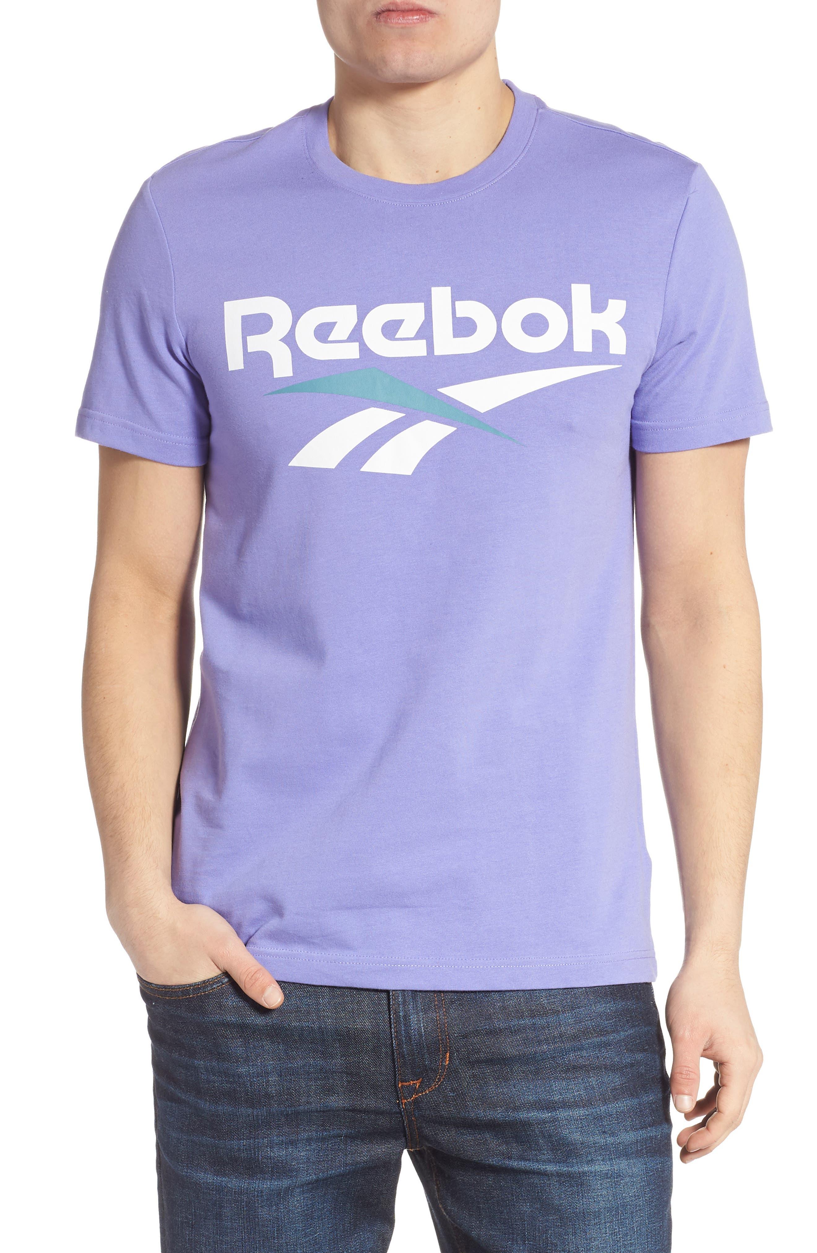 Reebok Classics Vector Logo T-Shirt, Purple