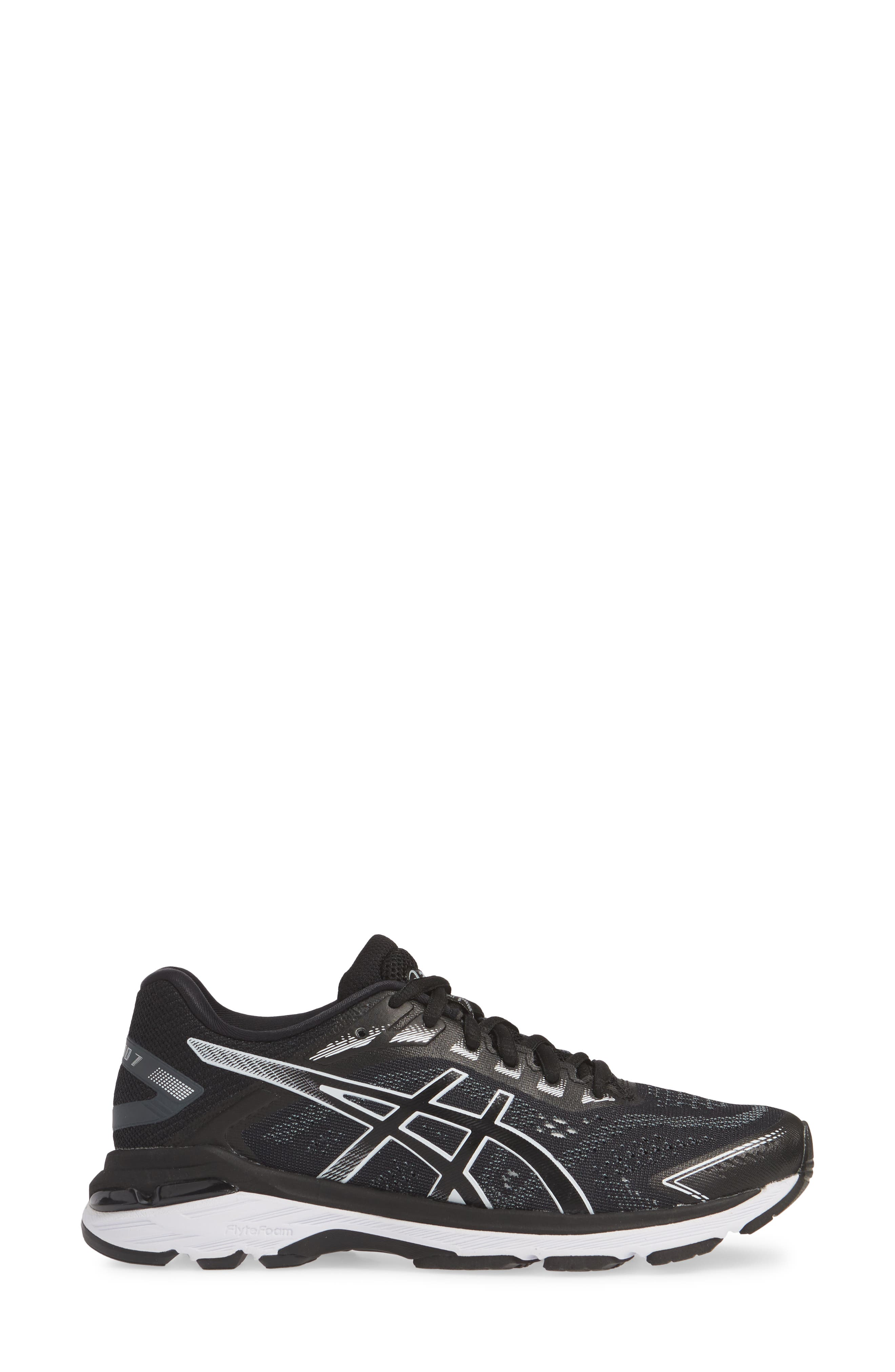 ASICS<SUP>®</SUP>,                             GT-2000 7 Running Shoe,                             Alternate thumbnail 3, color,                             BLACK/ WHITE